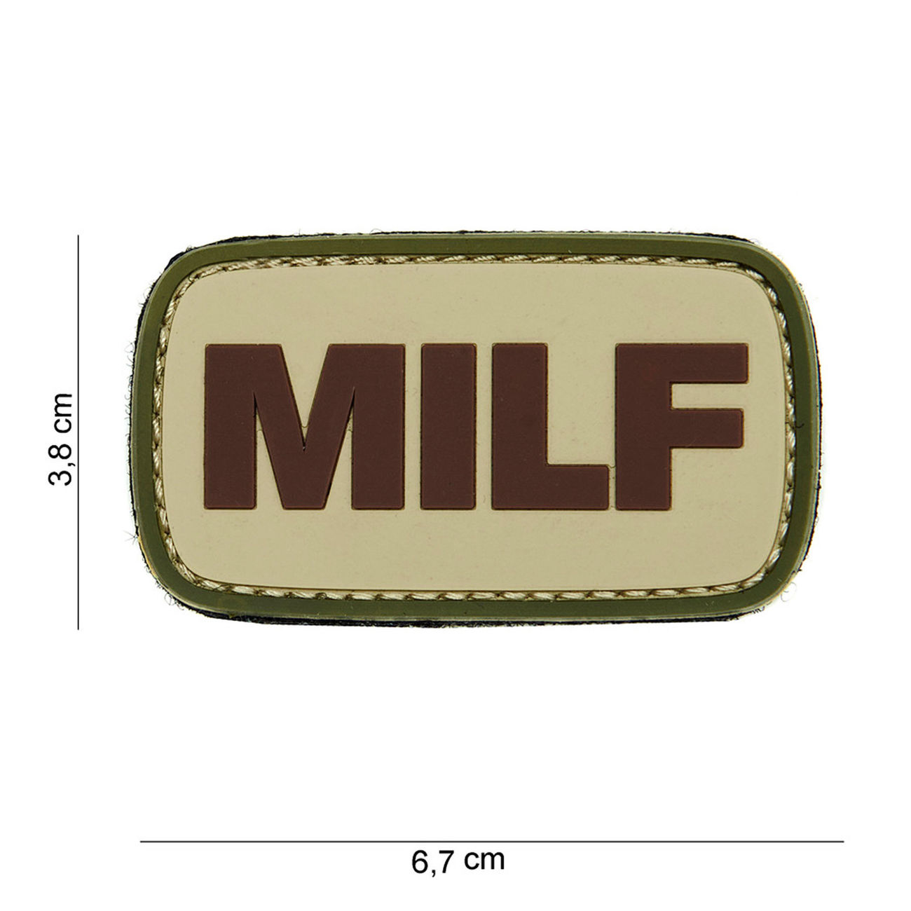101 INC. 3D Rubber Patch MILF 0