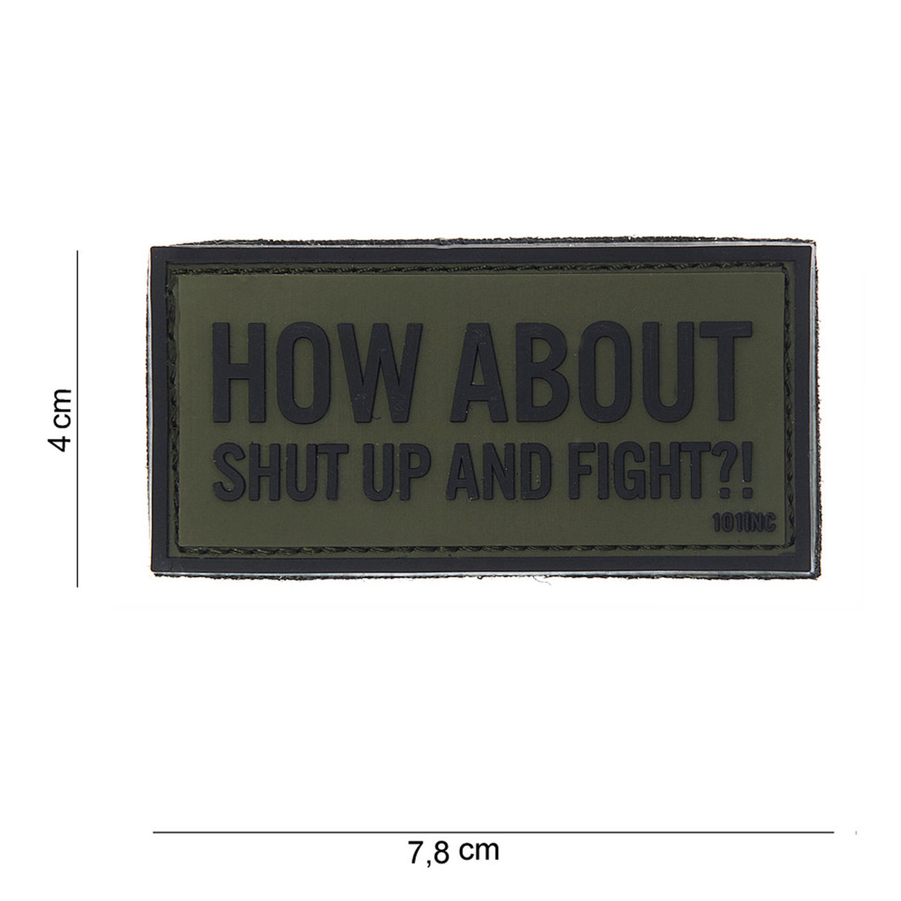 101 INC. 3D Rubber Patch How about oliv/schwarz 0