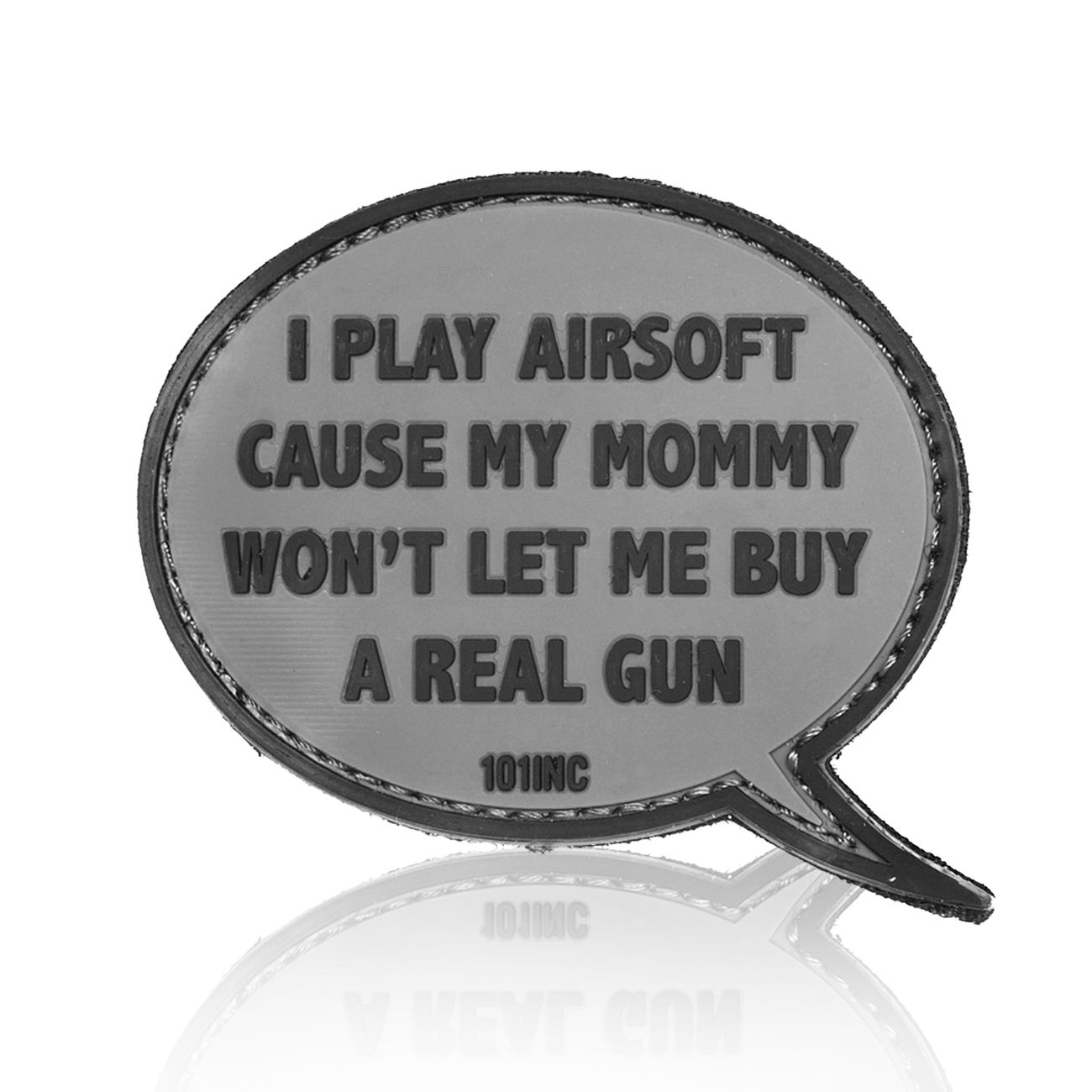 101 INC. 3D Rubber Patch I play Airsoft grau 0