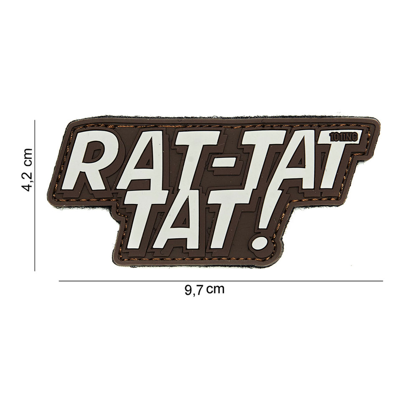 101 INC. 3D Rubber Patch Rat-tat tat braun/sand 0