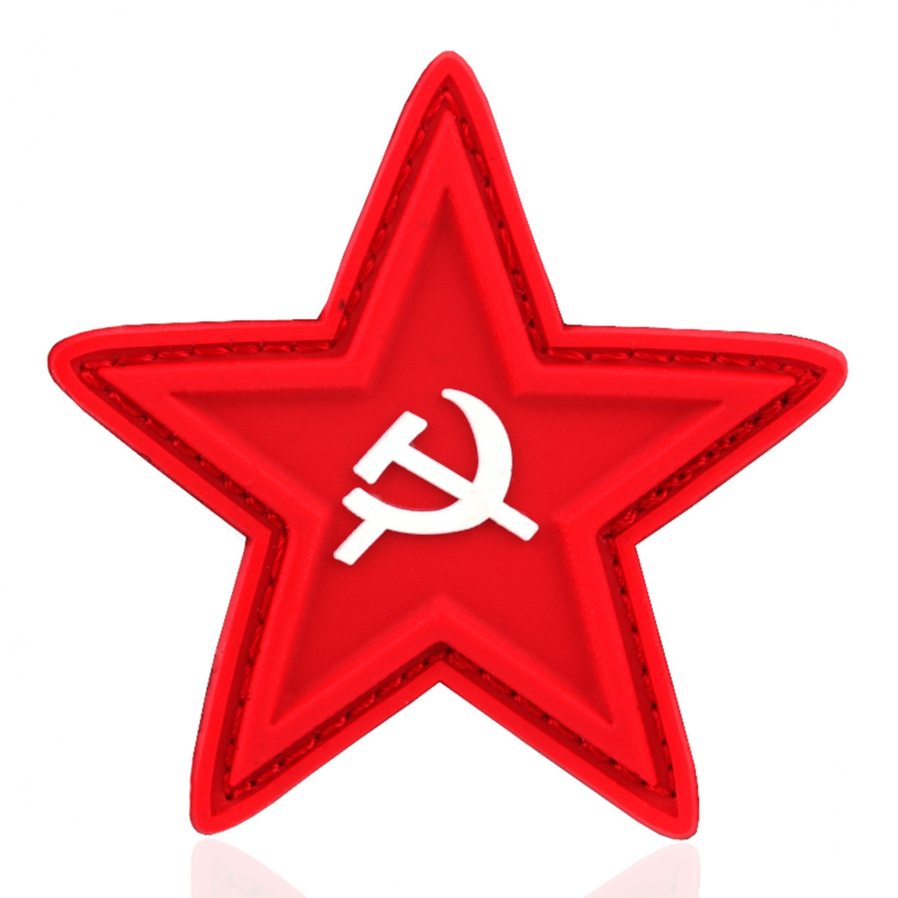 101 INC. 3D Rubber Patch red star with hammer and sickle 0