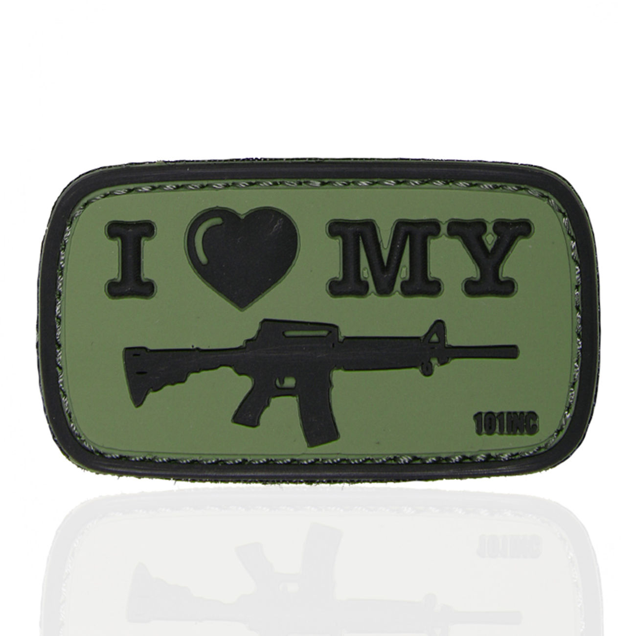 101 INC. 3D Rubber Patch I Love my M4 oliv/schwarz 0