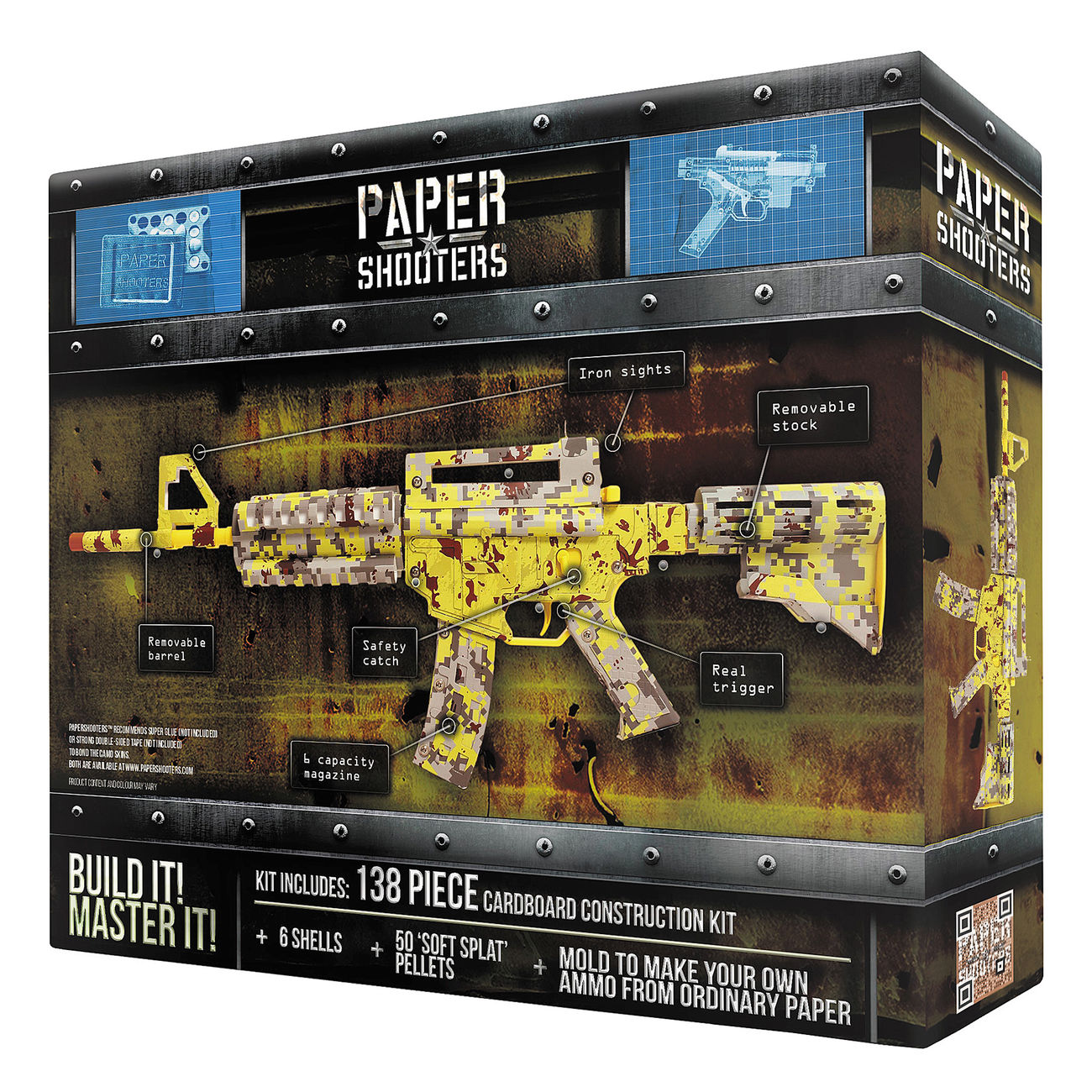 Paper Shooters Tactician Zombie Slayer Bausatz 138 tlg. 1