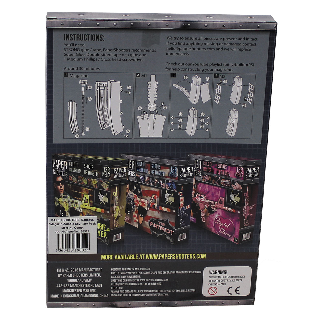 Paper Shooters Bausatz Magazin Zombie Slayer 2er Pack 1