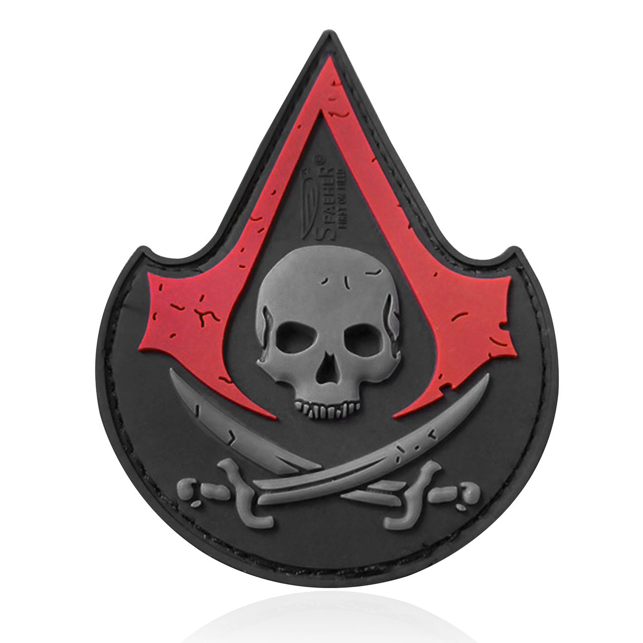 JTG 3D Rubber Patch Assasin Skull blackmedic 0