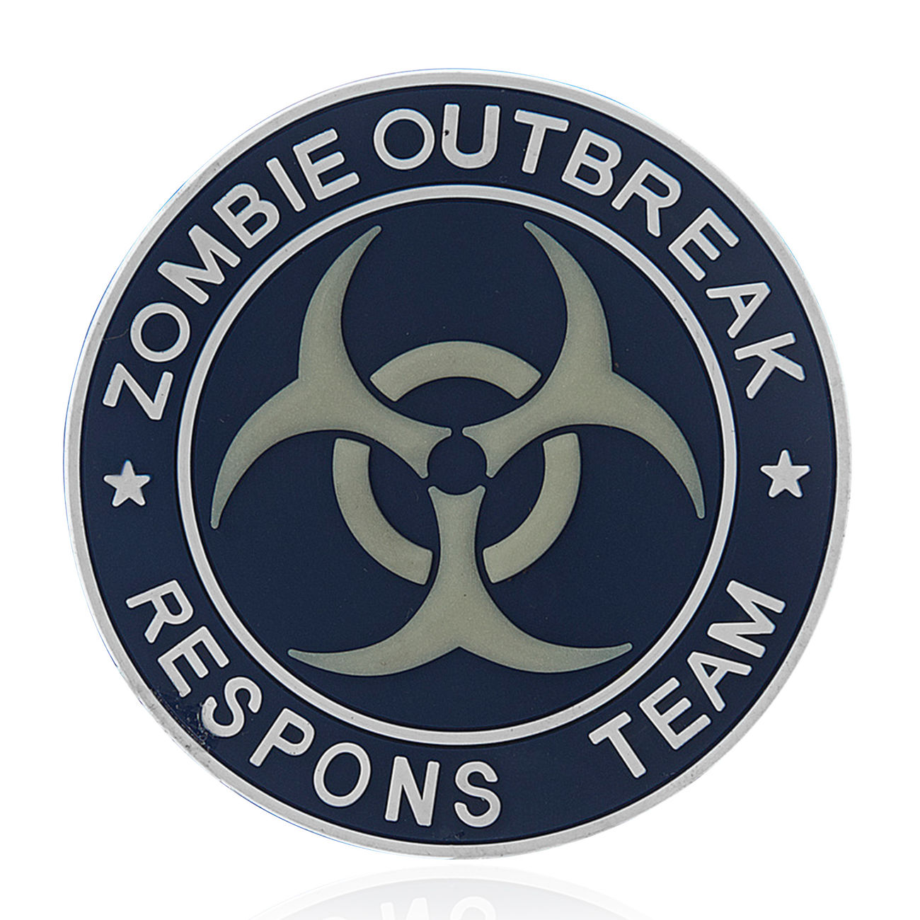 101 INC. 3D Rubber Patch Zombie Outbreak Respons Team blau/weiß 0