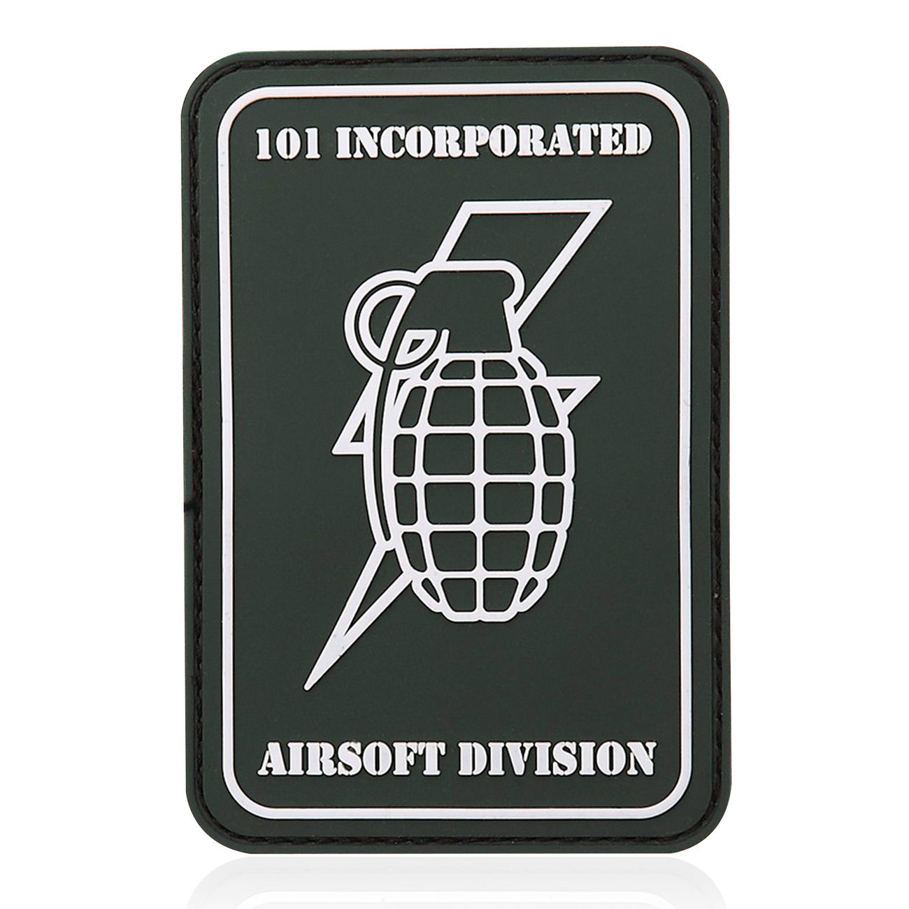 101 INC. 3D Rubber Patch Handgranate grün/weiß 0