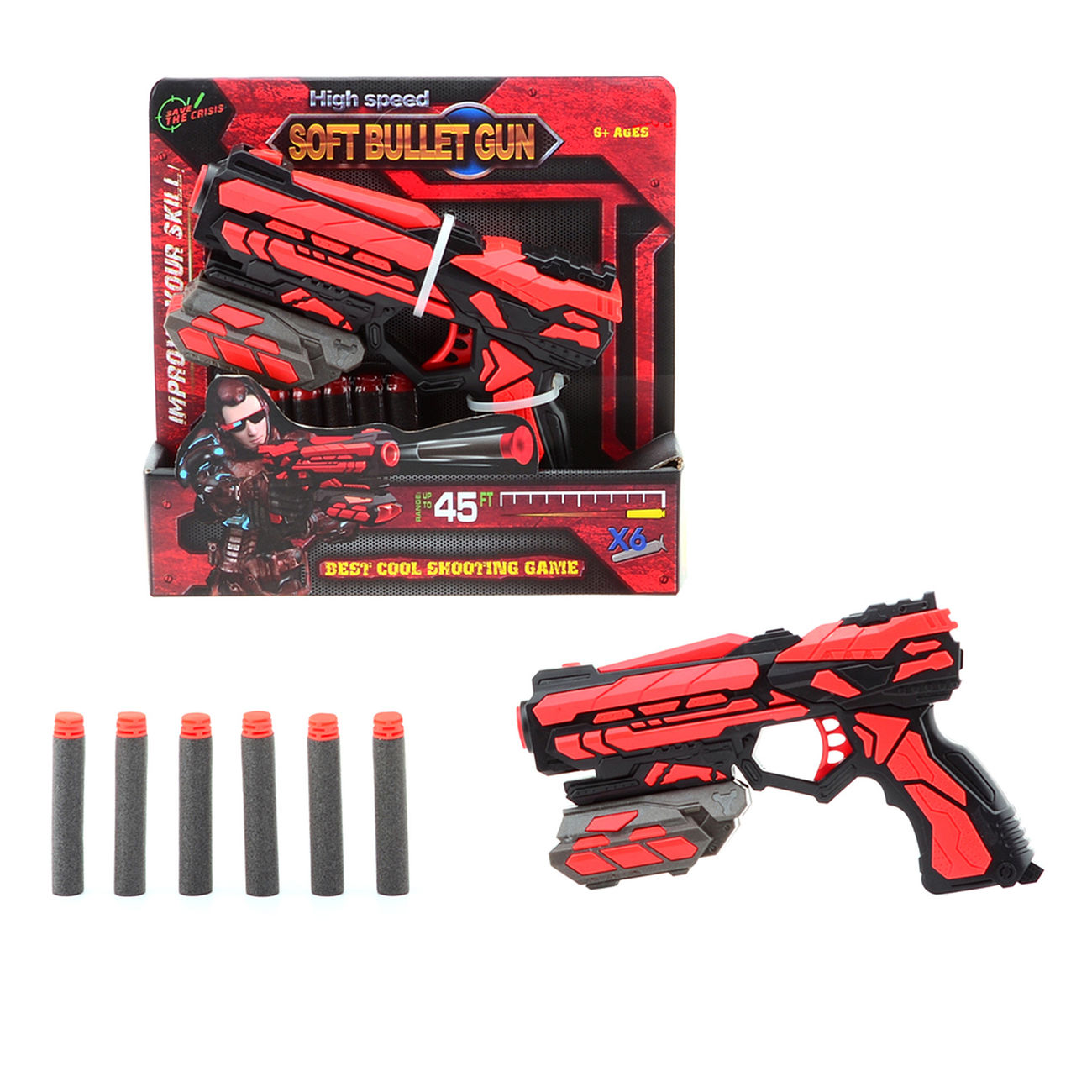 Johntoy Serve & Protect Shooter Starter 18 cm inkl. 6 Pfeile 0