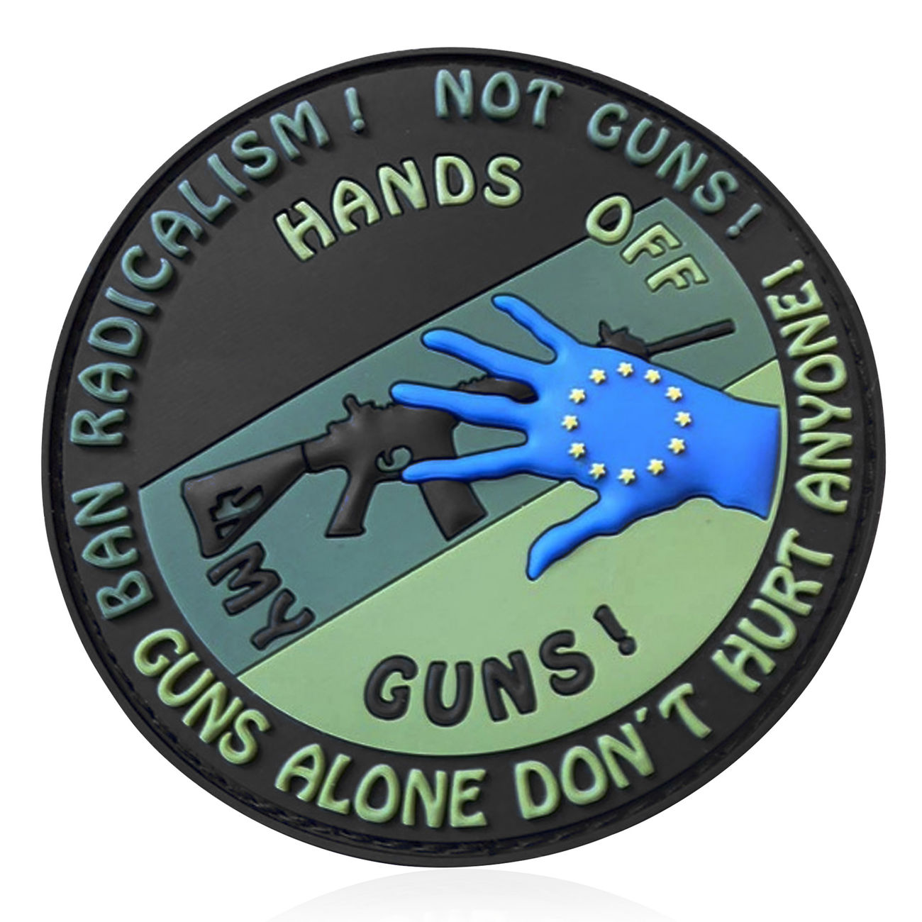 JTG 3D Rubber Patch Hands off my Gun forest 0