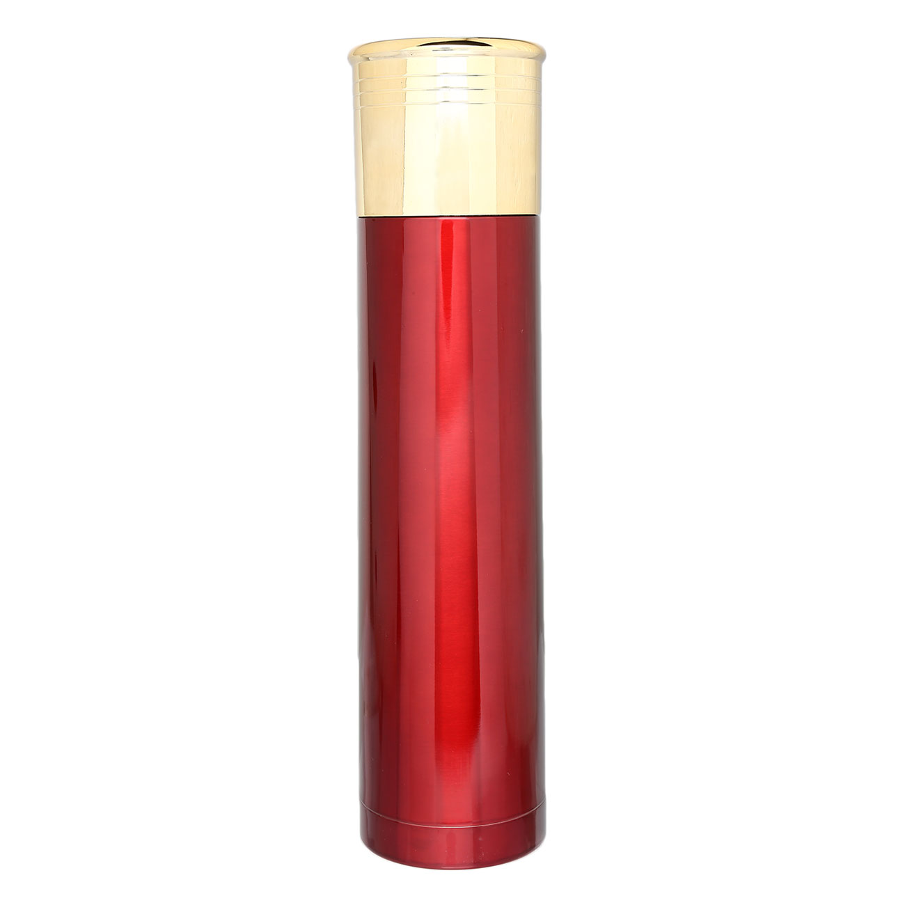 Thermoskanne Schrotpatrone 1000ml rot/gold 1