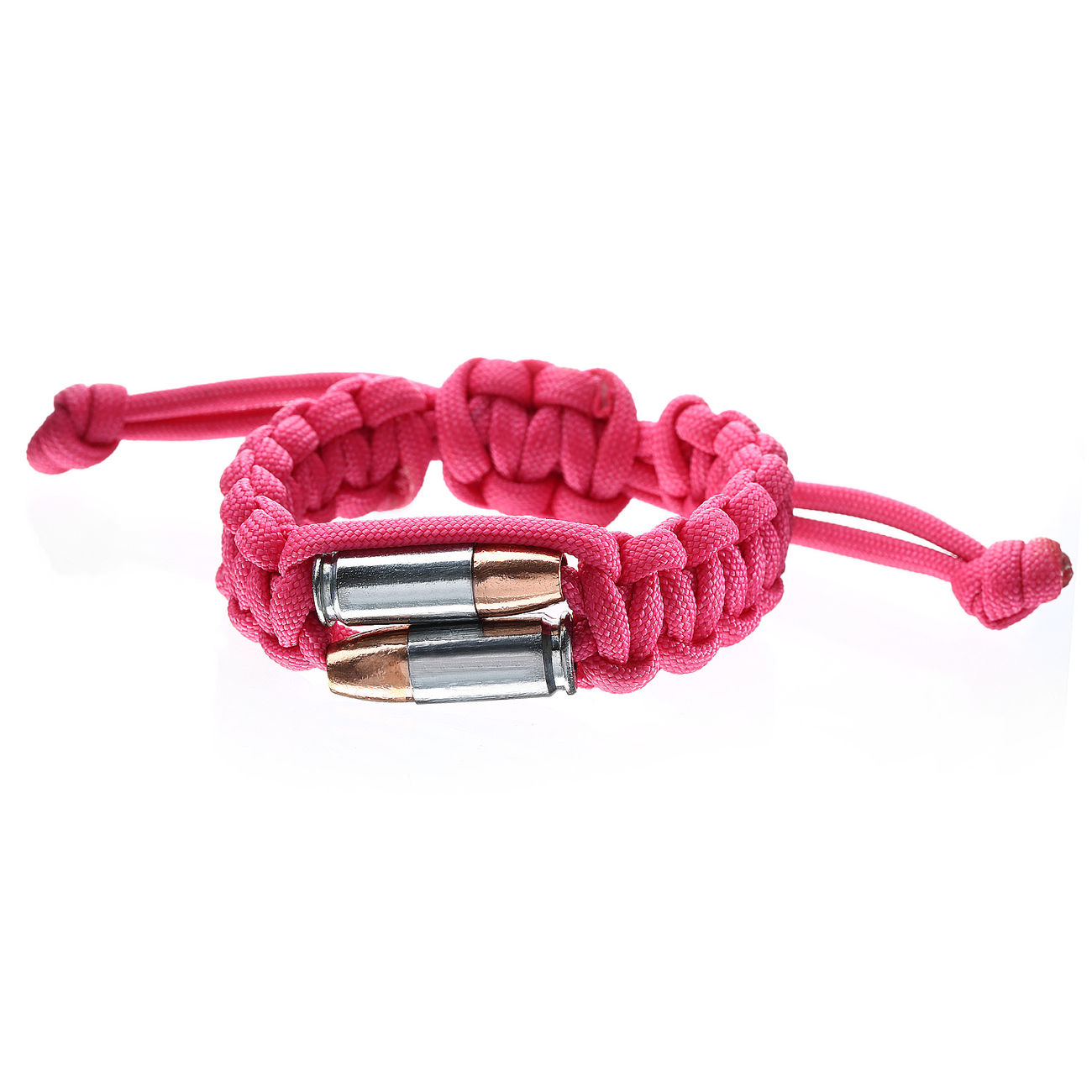 Real Bullet Armband Bullet Twins Paracord pink 1