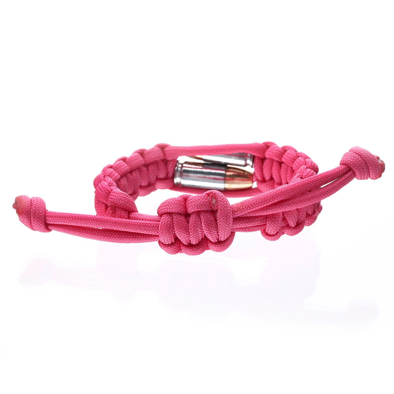 Real Bullet Armband Bullet Twins Paracord pink 2