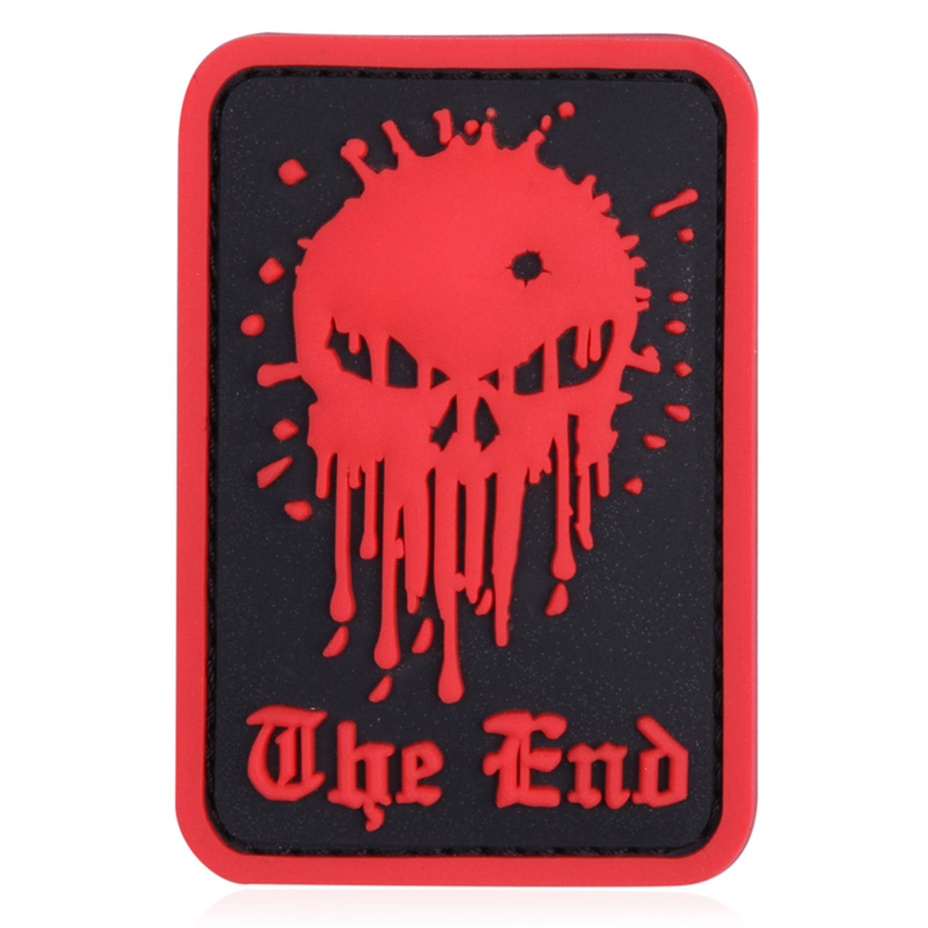 3D Rubber Patch Skull The End rot 0