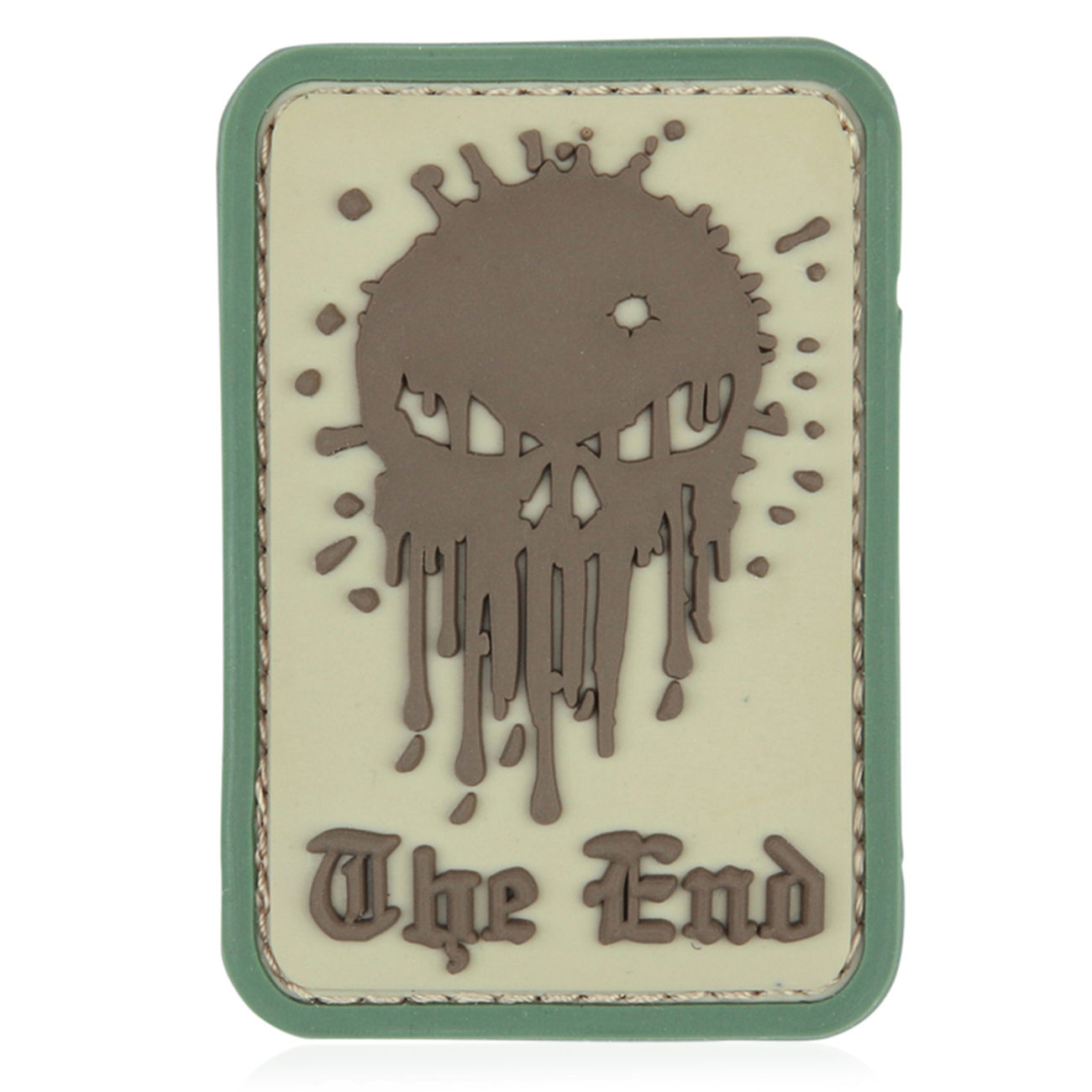 3D Rubber Patch Skull The End coyote 0