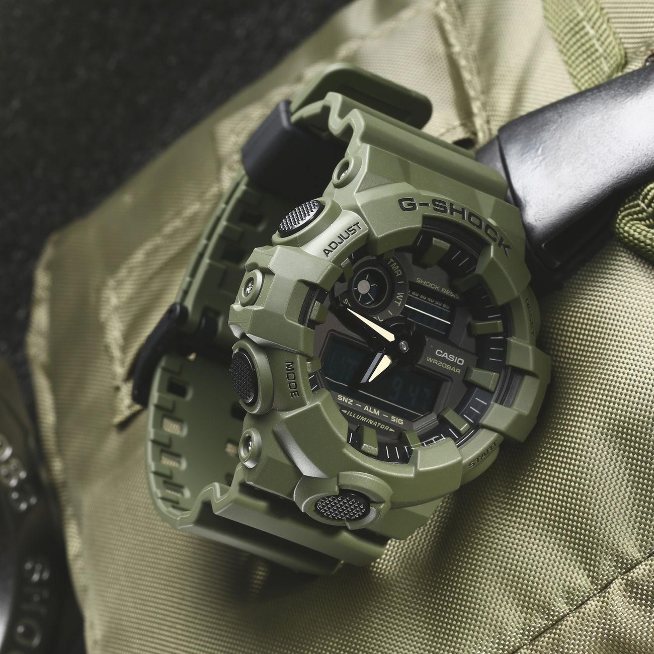 Casio Armbanduhr G Shock Ga 700uc 3aer Oliv Gnstig Kaufen Kotte Gd 400mb 1