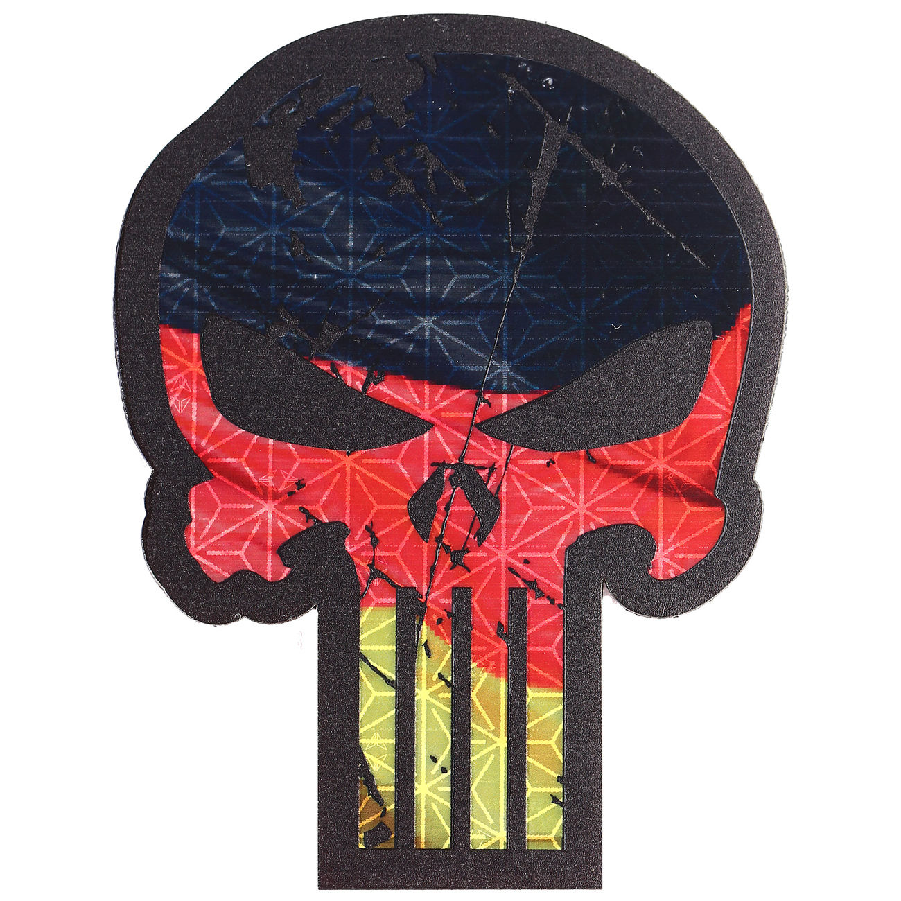 JTG 3D IR Patch BIG Punisher Patch mit Deutschlandflagge 0