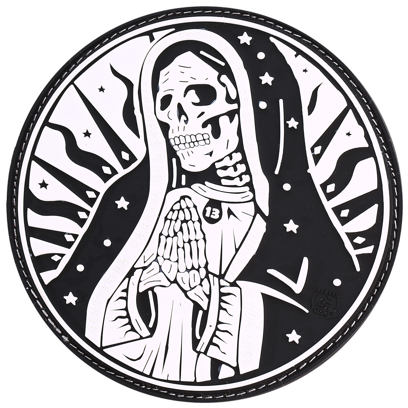 Jtg 3d Rubber Patch Santa Muerte Patch Swat Günstig Kaufen Kotte