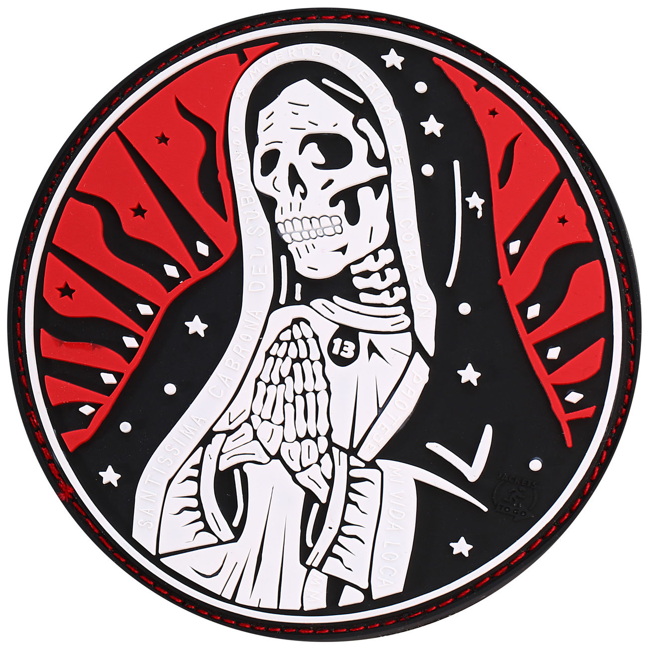 Jtg 3d Rubber Patch Santa Muerte Patch Redsky Günstig Kaufen Kotte