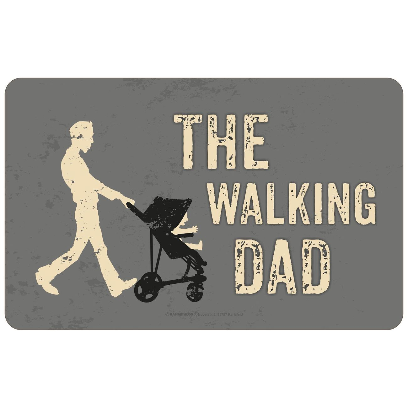 Rahmenlos Brotzeitbrettchen The Walking Dad 0