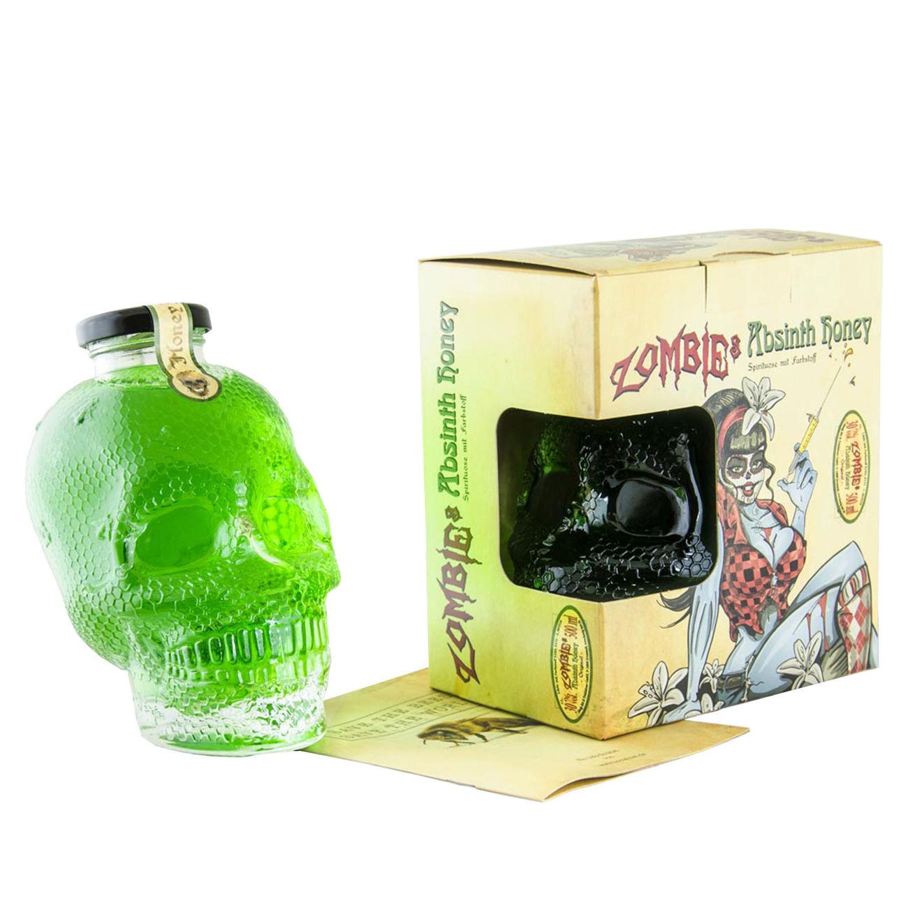 Zombies Absinth Honey 0,5 Liter in Totenkopf Flasche günstig kaufen ...