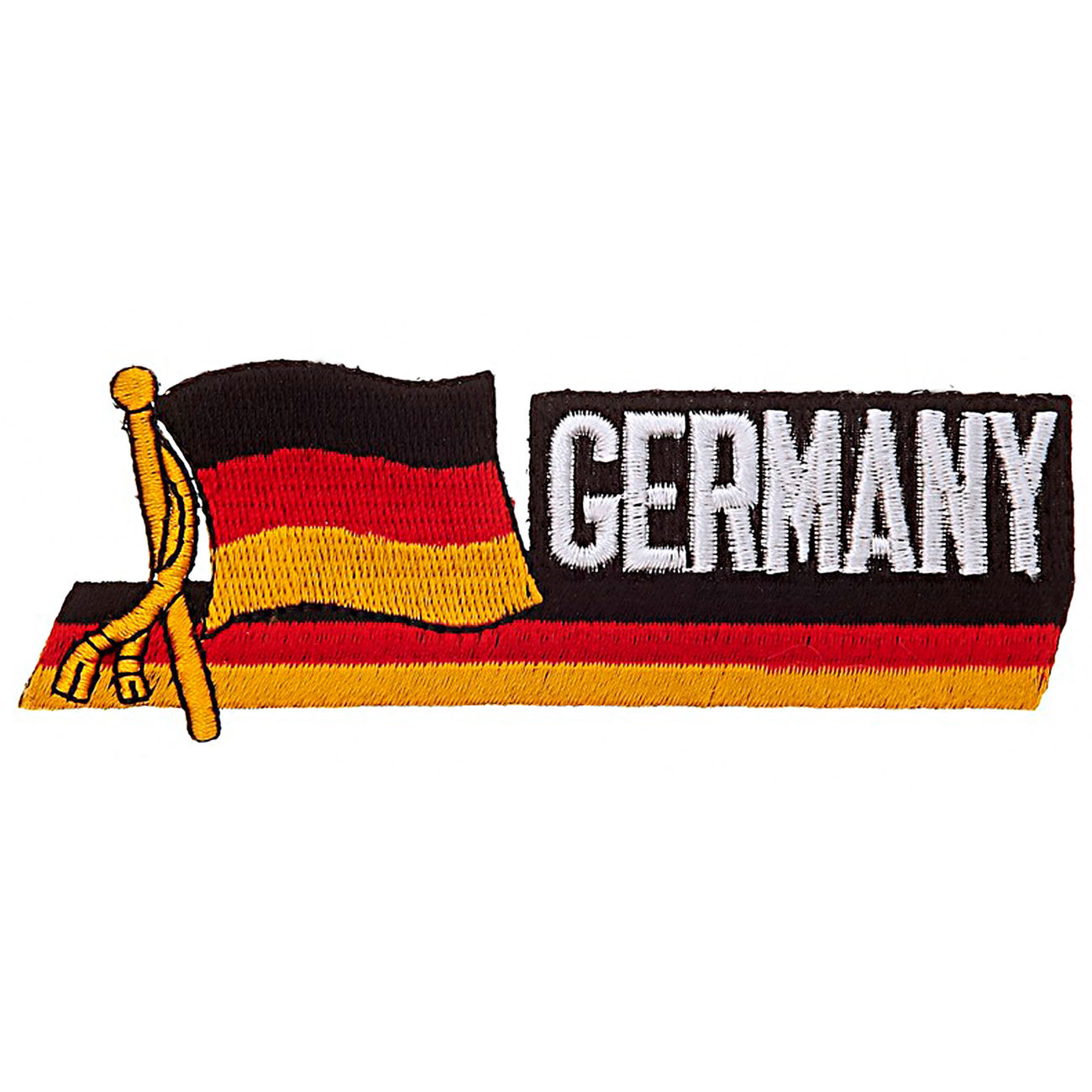 Textil Patch Waving Flag Germany mit Bügelfläche 0
