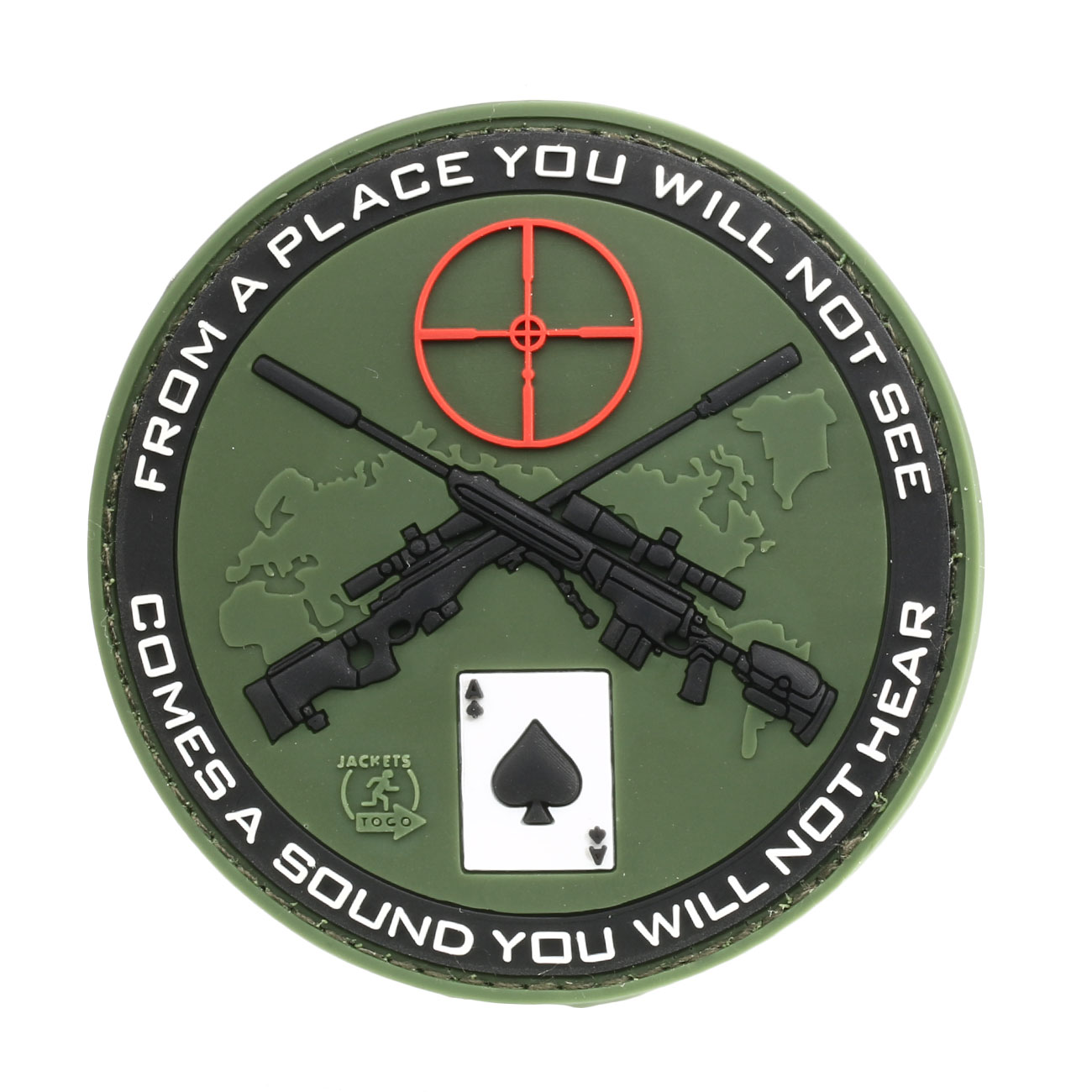 JTG 3D Rubber Patch Sniper forest 0
