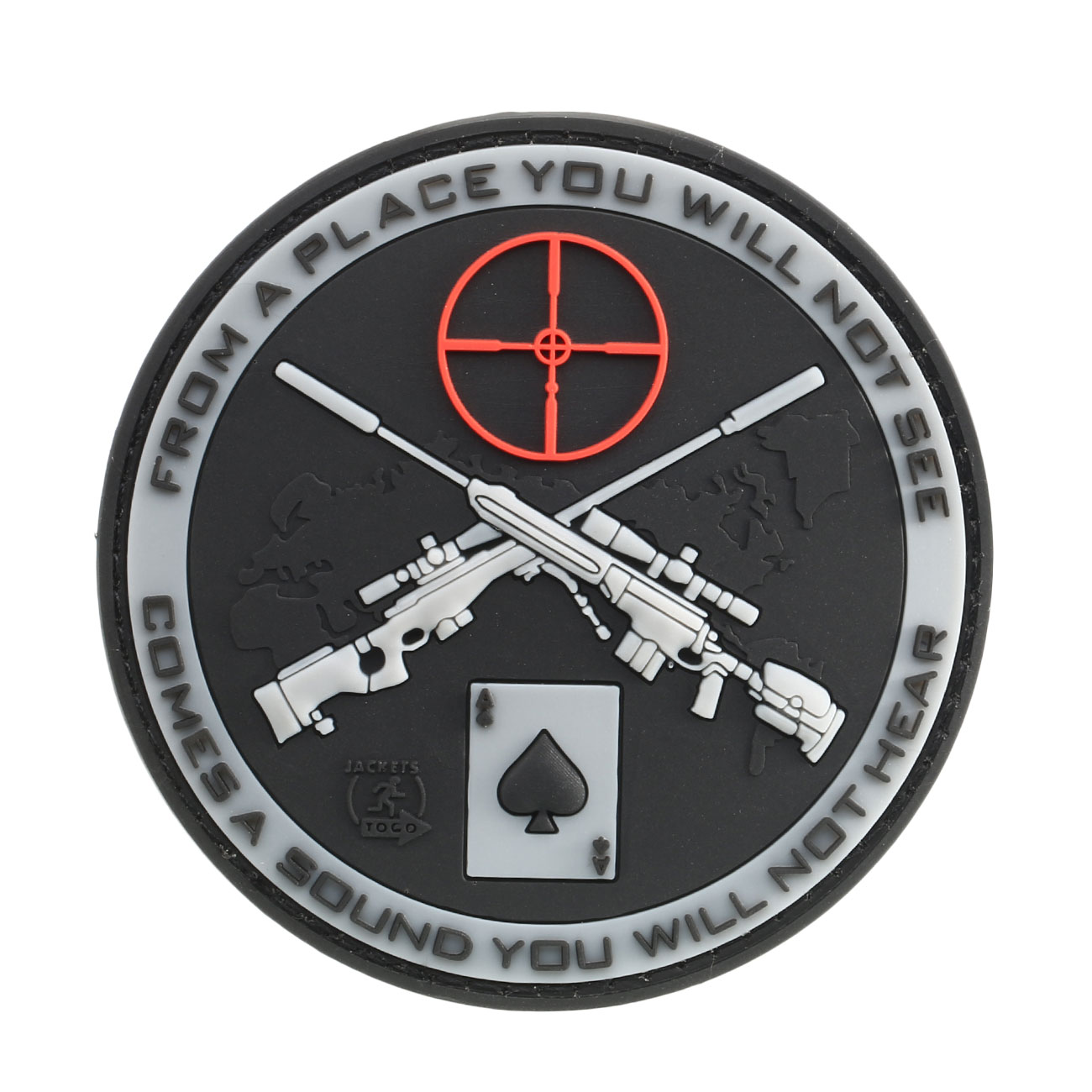 JTG 3D Rubber Patch Sniper swat 0