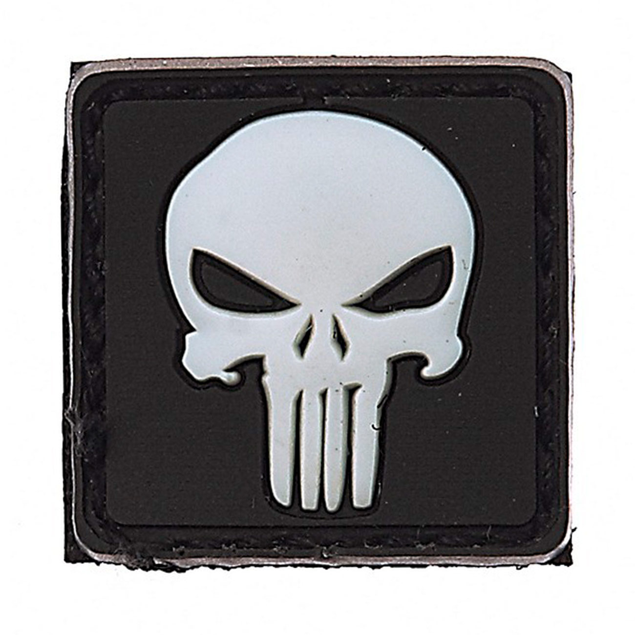 3D Rubber Patch Punisher weiß 0