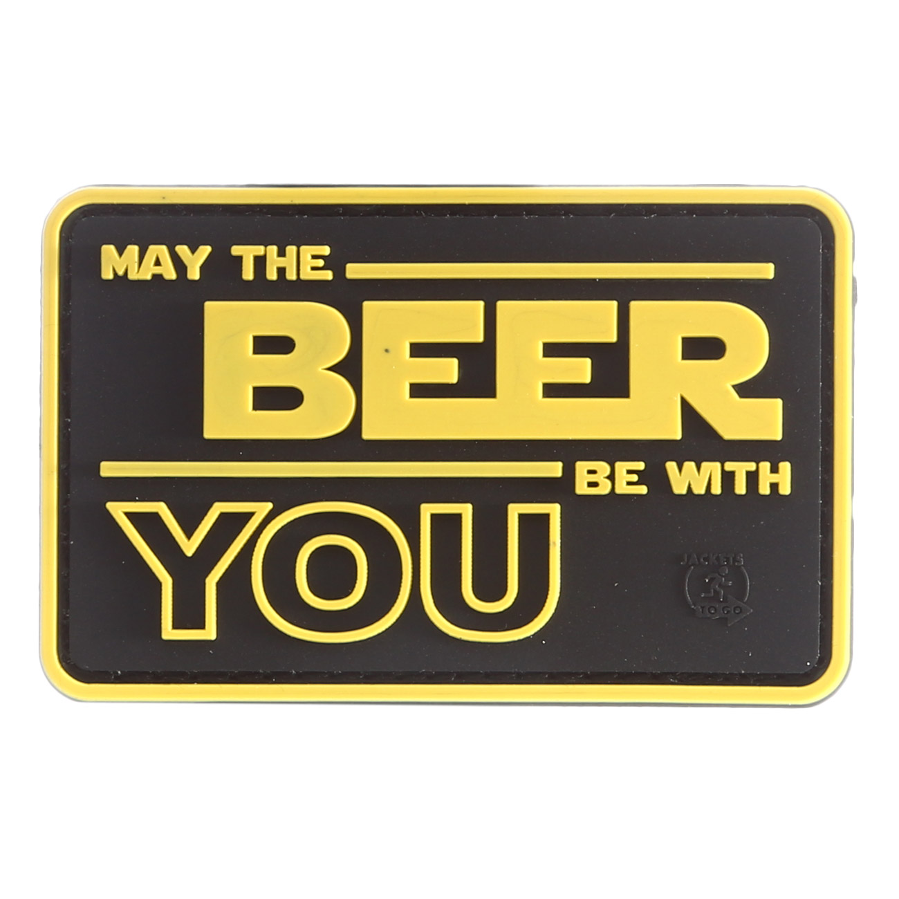 JTG 3D Rubber Patch May The Beer With You 0