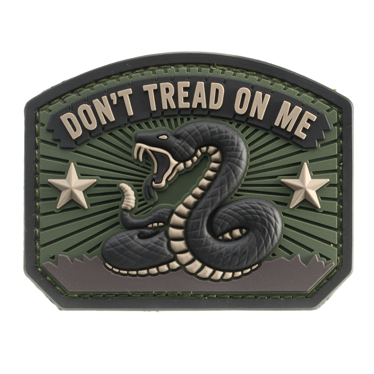Mil-Spec Monkey 3D Rubber Patch Don´t Tread On Me forest 0
