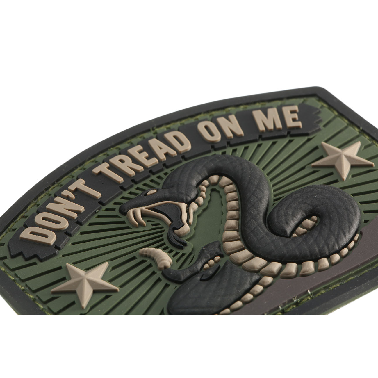 Mil-Spec Monkey 3D Rubber Patch Don´t Tread On Me forest 1