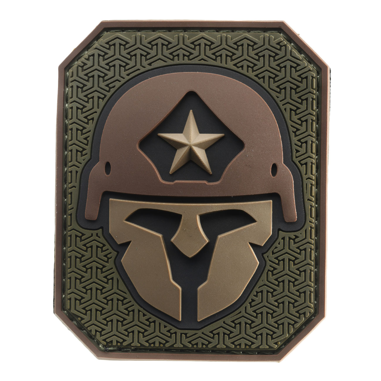 Mil-Spec Monkey 3D Rubber Patch Modern Spartan forest 0