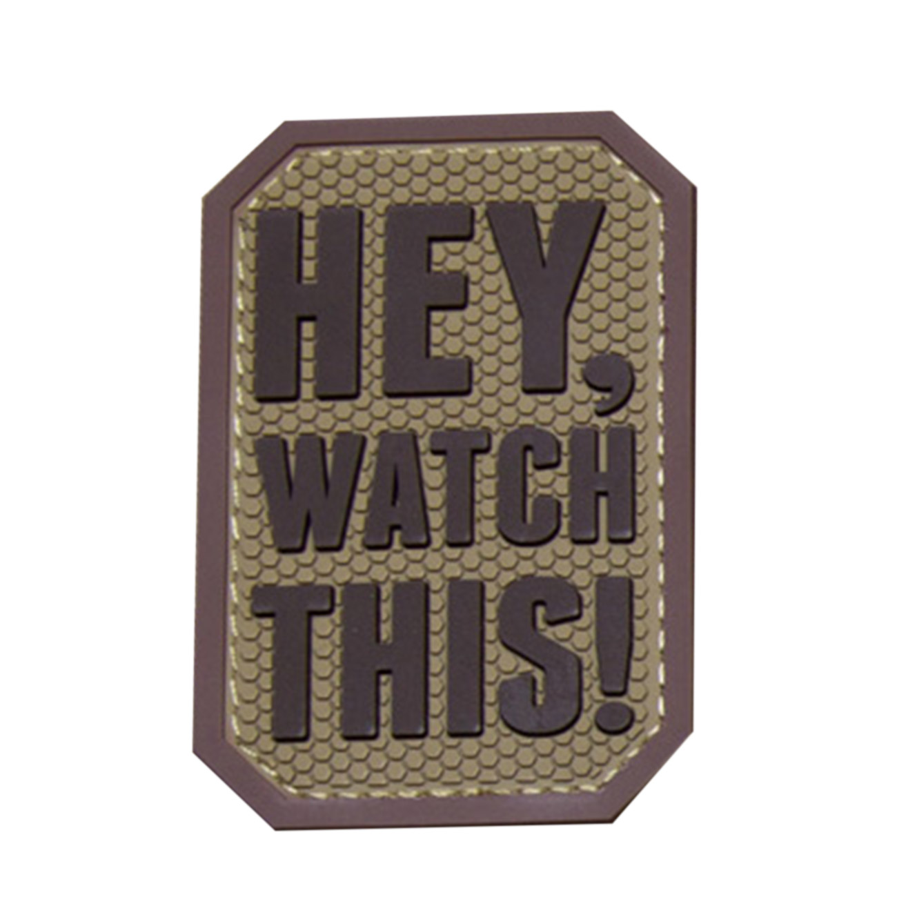 Mil-Spec Monkey 3D Rubber Patch Hey Watch This desert 0