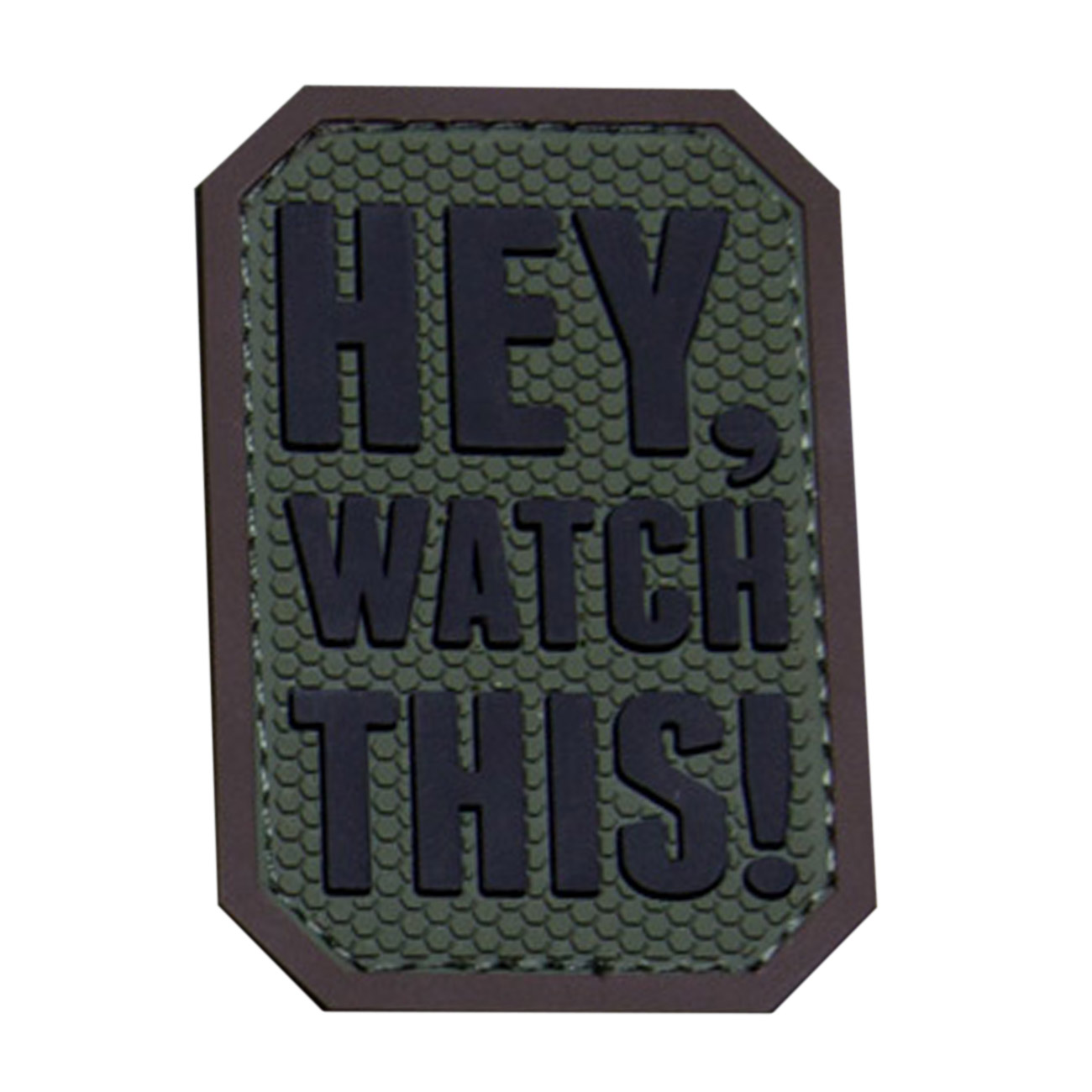 Mil-Spec Monkey 3D Rubber Patch Hey Watch This forest 0