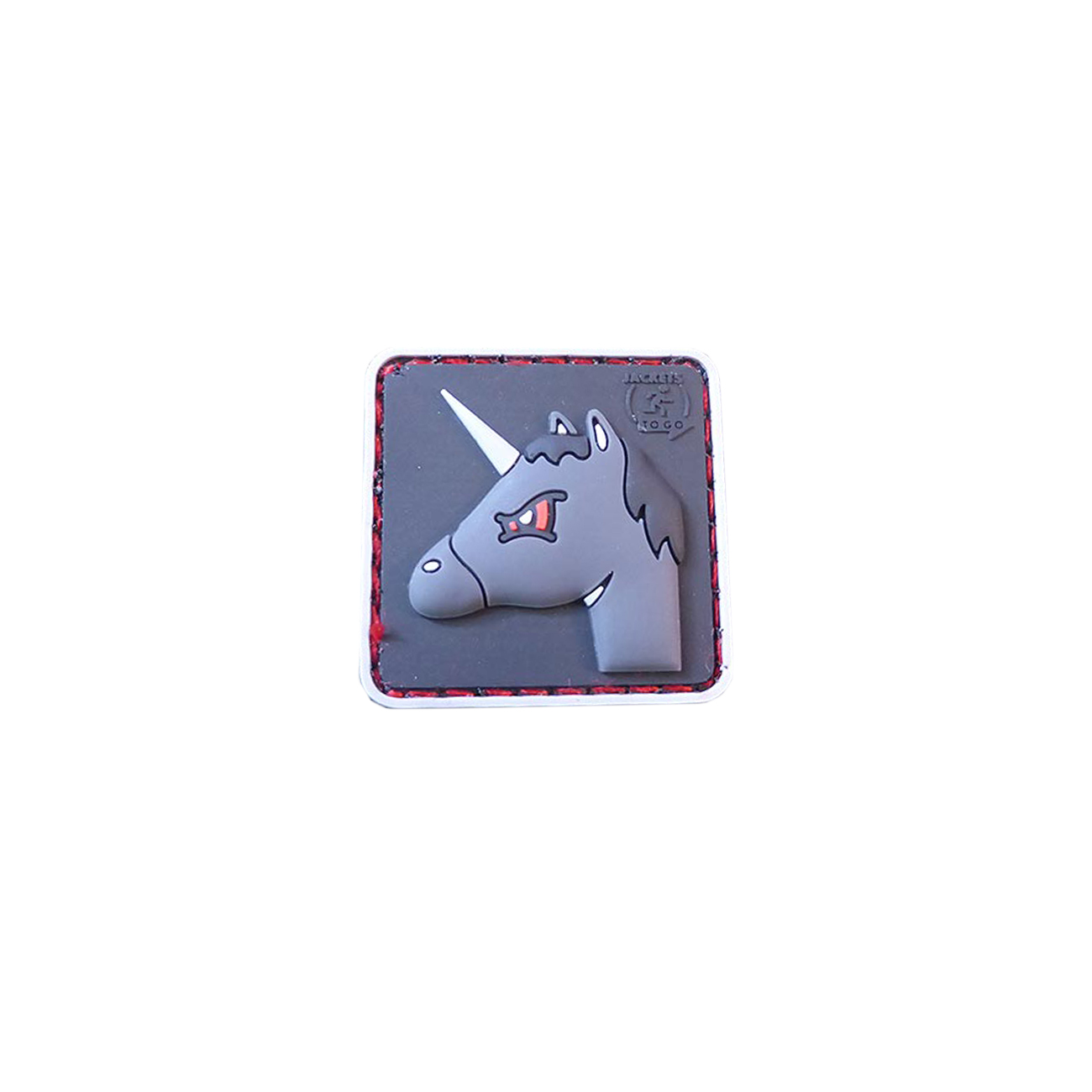 JTG 3D Rubber Patch Angry Unicorn 0