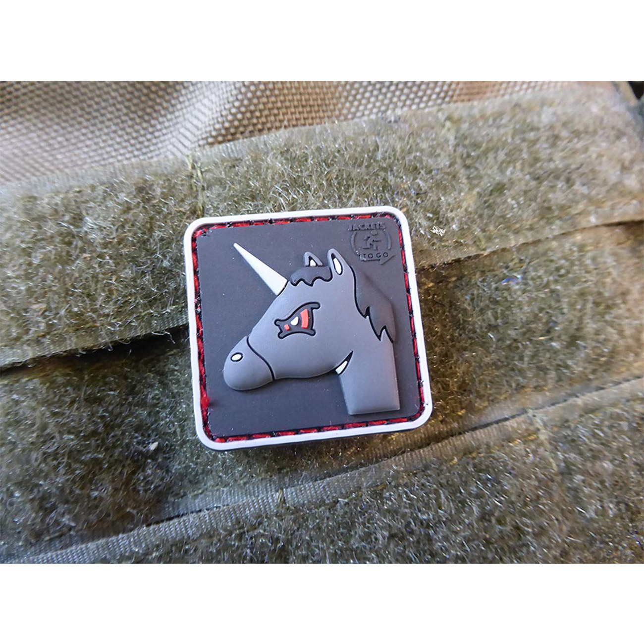 JTG 3D Rubber Patch Angry Unicorn 1