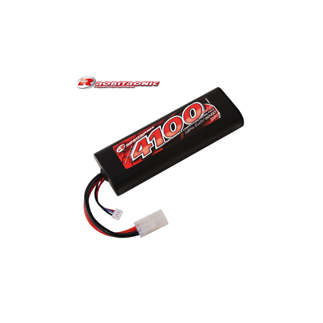 Robitronic lipo akku 7 4v 4100mah 25c racing pack kotte for Lipo schreibtisch
