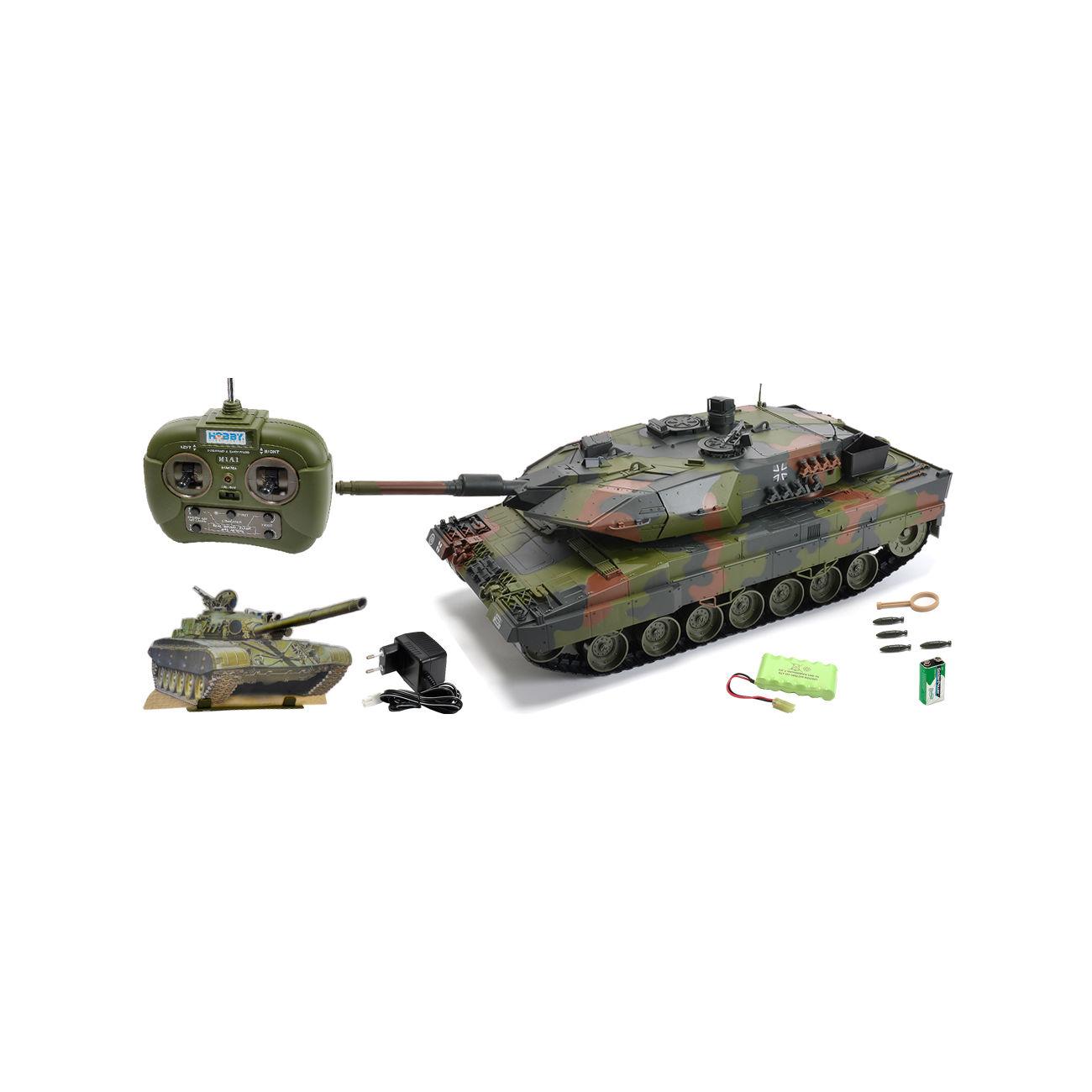 carson rc panzer leopard 2a5 mit 4 raketen gr ntarn 1 16. Black Bedroom Furniture Sets. Home Design Ideas