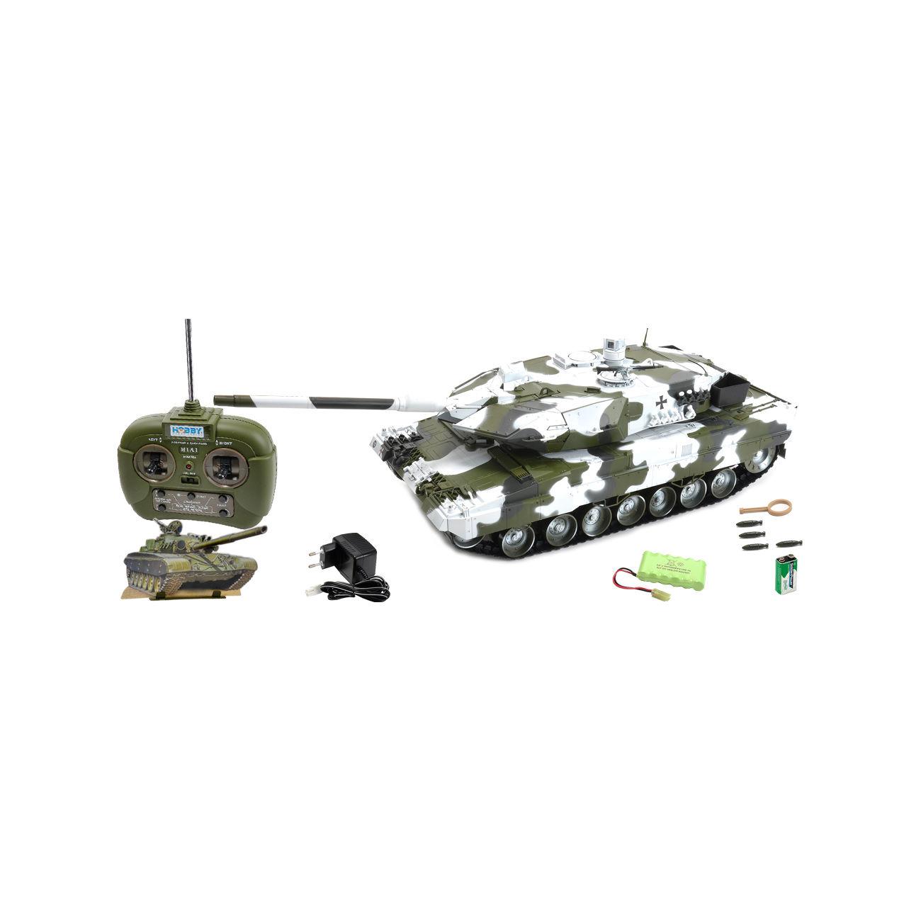 carson rc panzer leopard 2a6 mit 4 raketen schneetarn 1 16. Black Bedroom Furniture Sets. Home Design Ideas