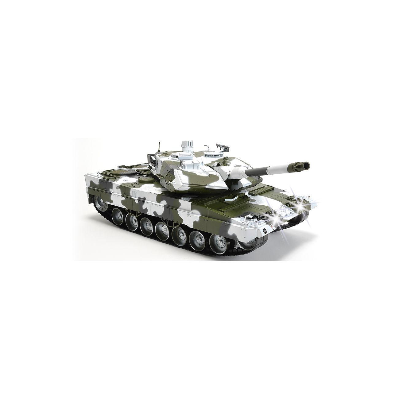 carson rc panzer leopard 2a6 mit 4 raketen schneetarn 1 16 schussf hig 100 rtr g nstig kaufen. Black Bedroom Furniture Sets. Home Design Ideas