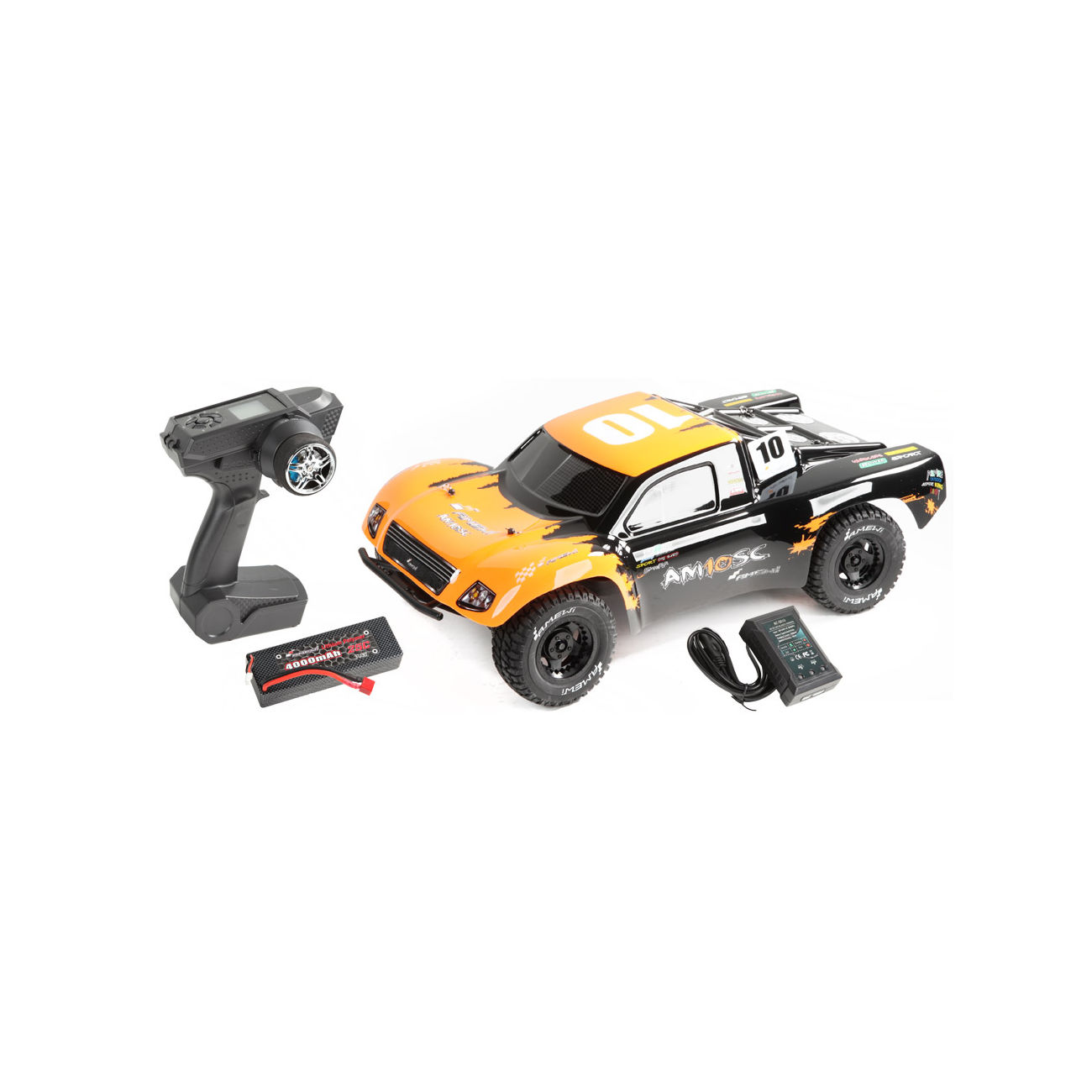 Amewi 1:10 AM10SC V2 Brushless 4WD Short Course Truck 2,4 GHz RTR Set 22139 0