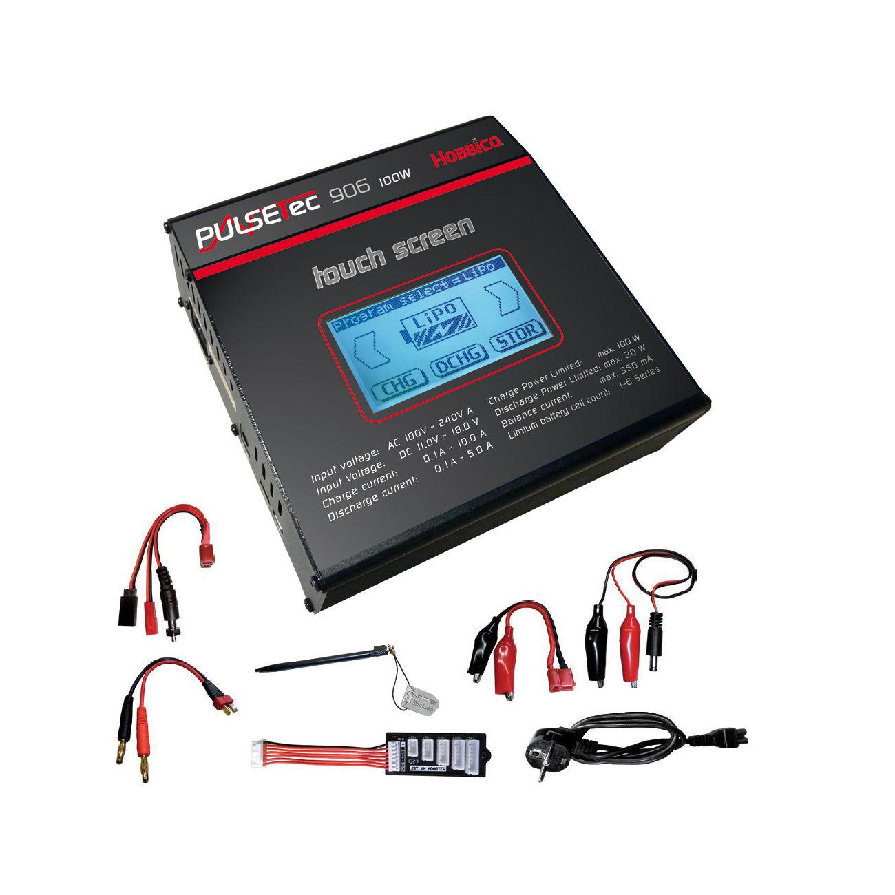 Hobbico pulsetec 906 touch screen ladeger t lipo nimh for Lipo schreibtisch