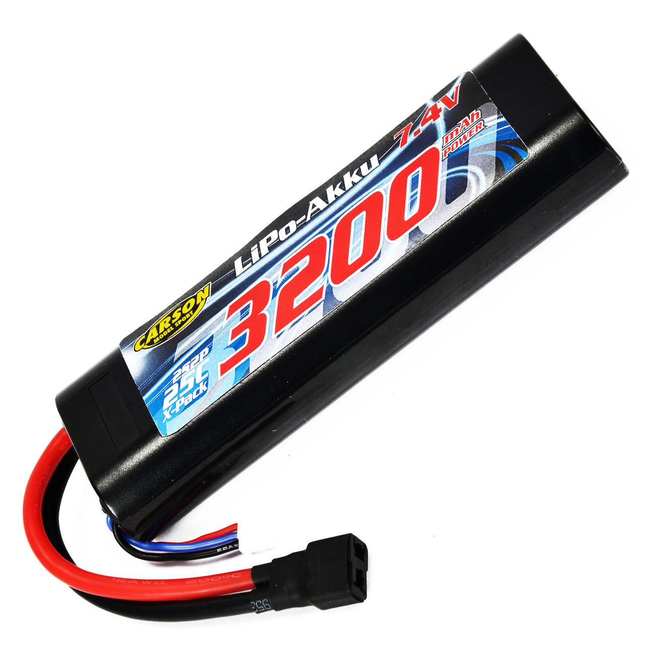 Carson lipo akku 7 4v 3200mah 25c racing pack t stecker for Lipo schreibtisch