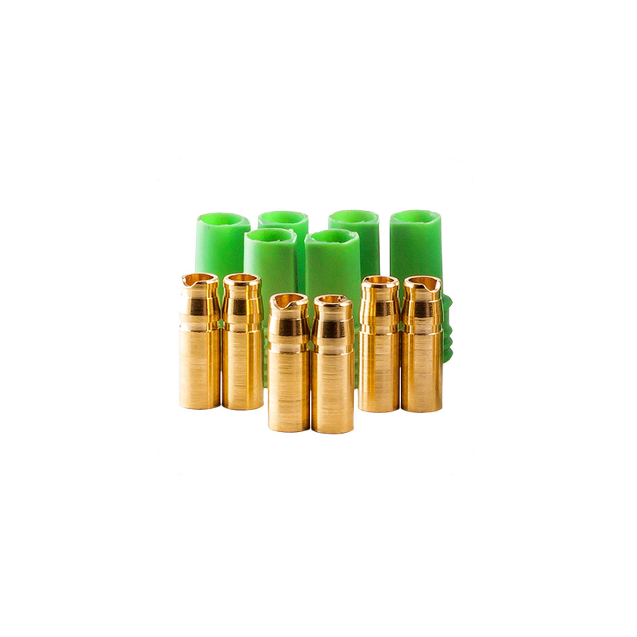 Castle Creations 4mm Polarized Connector Goldbuchsen Set (3 Sets) CSE011007600 0