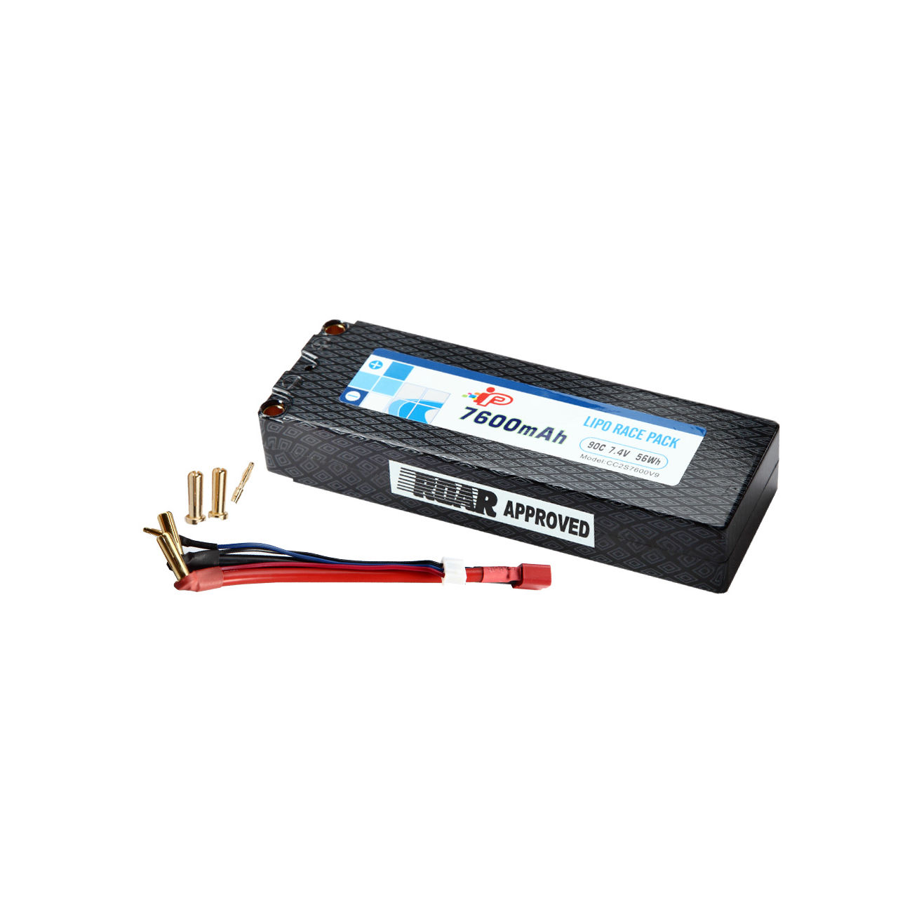 Ip lipo akku 7 4v 7600mah 90c hybrid efra hardcase 5mm for Lipo schreibtisch