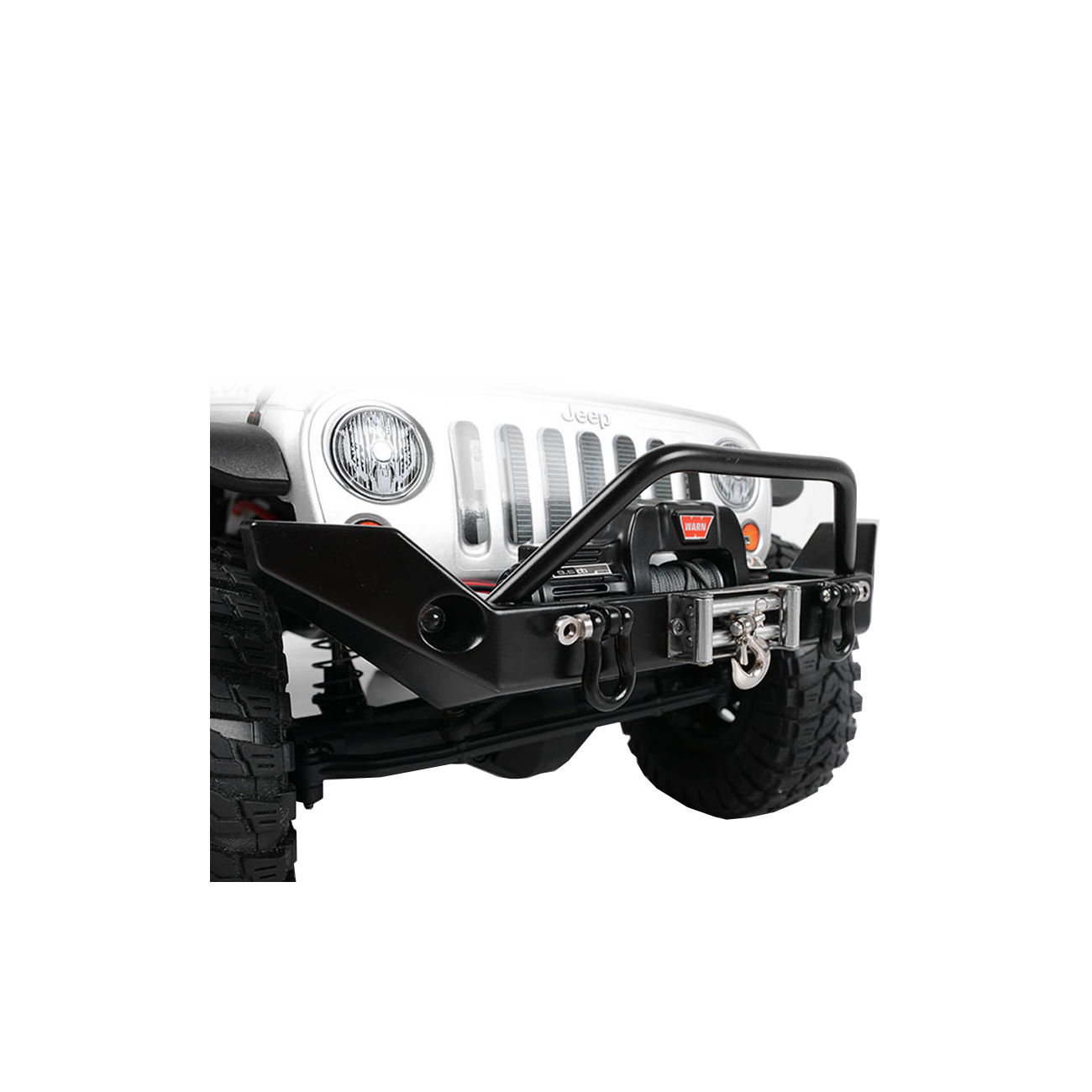 RC4WD Rock Hard 4x4 Full Width Front Winch Bumper f. SCX10 Chassis schwarz Z-S1338 4