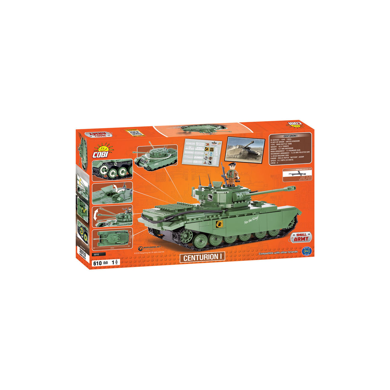 Cobi World Of Tanks Roll Out Small Army Bausatz Panzer Centurion I 610 Teile 3010 3