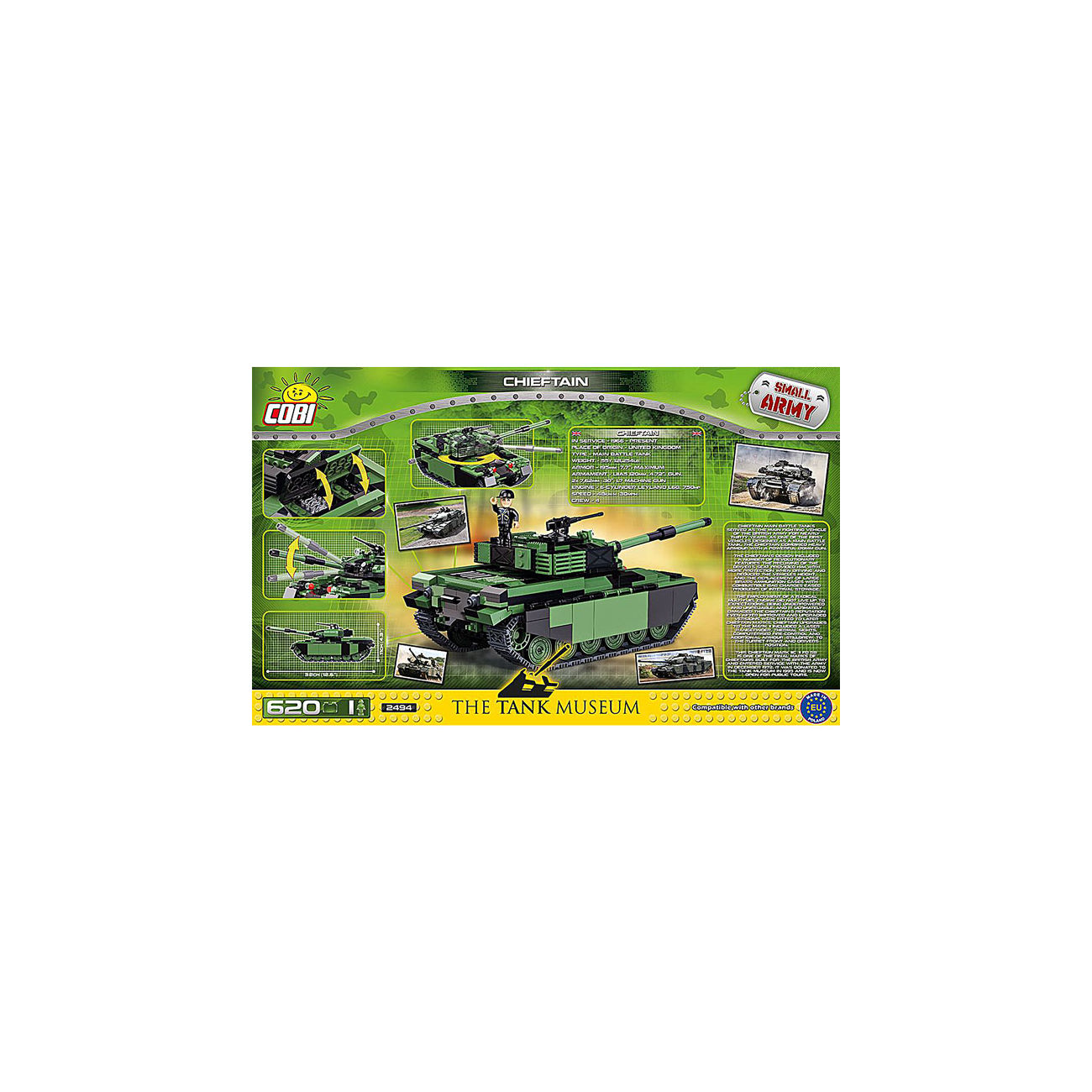 Cobi The Tank Museum Small Army Bausatz Panzer Chieftain 620 Teile 2494 3