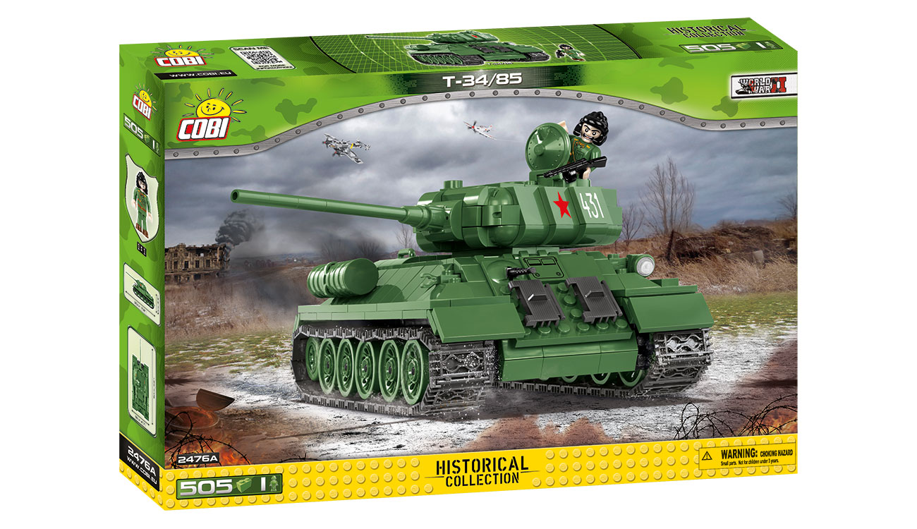 Cobi Historical Collection Bausatz Panzer T34/85 505 Teile 2476A 1