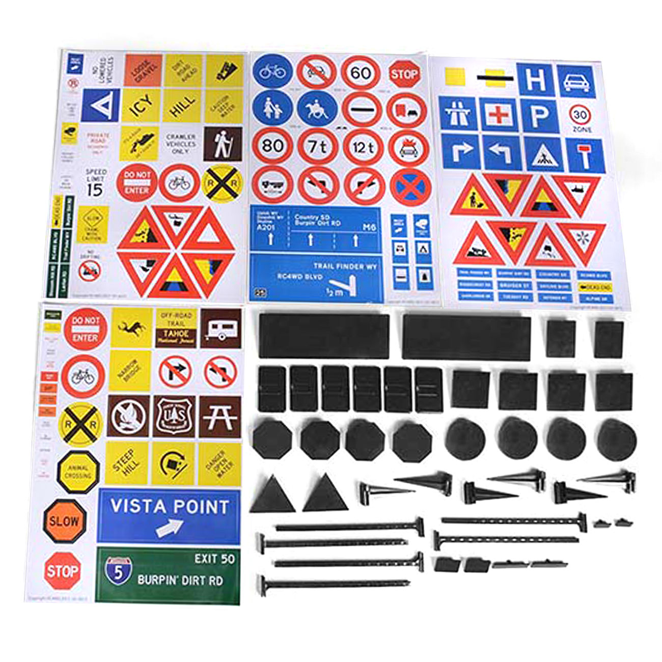 RC4WD Scale Signs Set Z-X0035 0